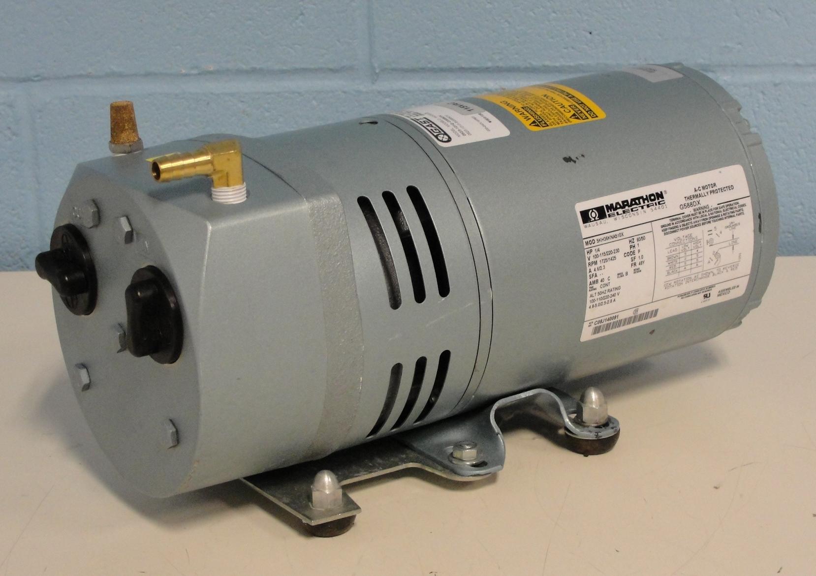 Refurbished Gast Oilless Rotary Vane Vacuum Pump Wire Diagram Image
