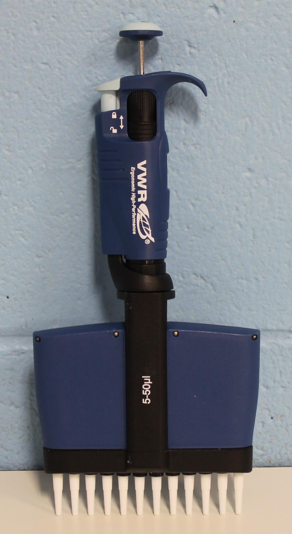 VWR 12- Channel 5-50 uL Signature Ergonomic High Performance Pipettor Image
