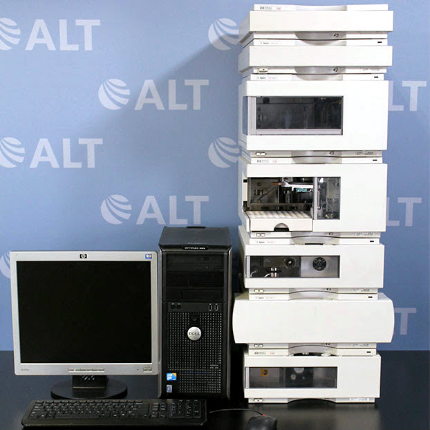 Agilent 1100 Series HPLC System with G1321A FLD, G1311A Quat Pump, G1367A WPALS Autosampler, G1364A Fraction Collector Image