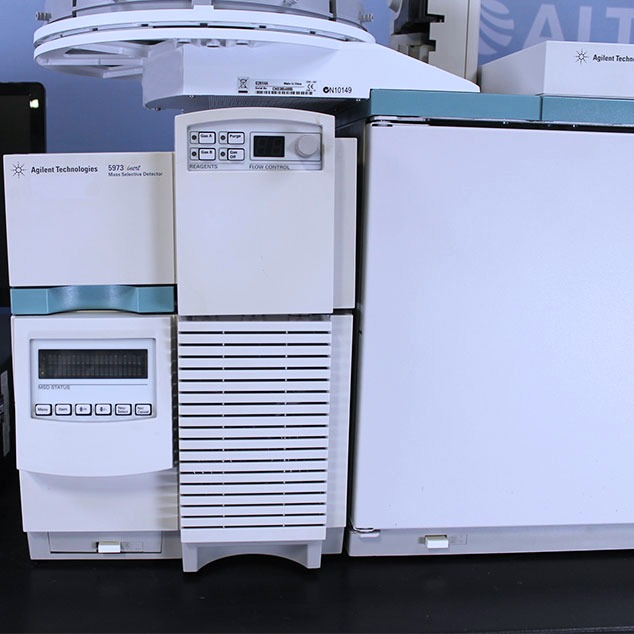 ... Agilent 6890 GC/MS System with 5973 MSD Image ...