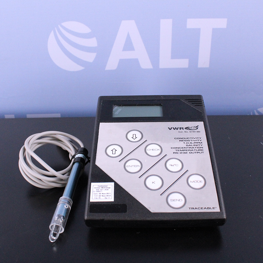Vwr Conductivity Meter : Refurbished vwr digital conductivity bench meter model