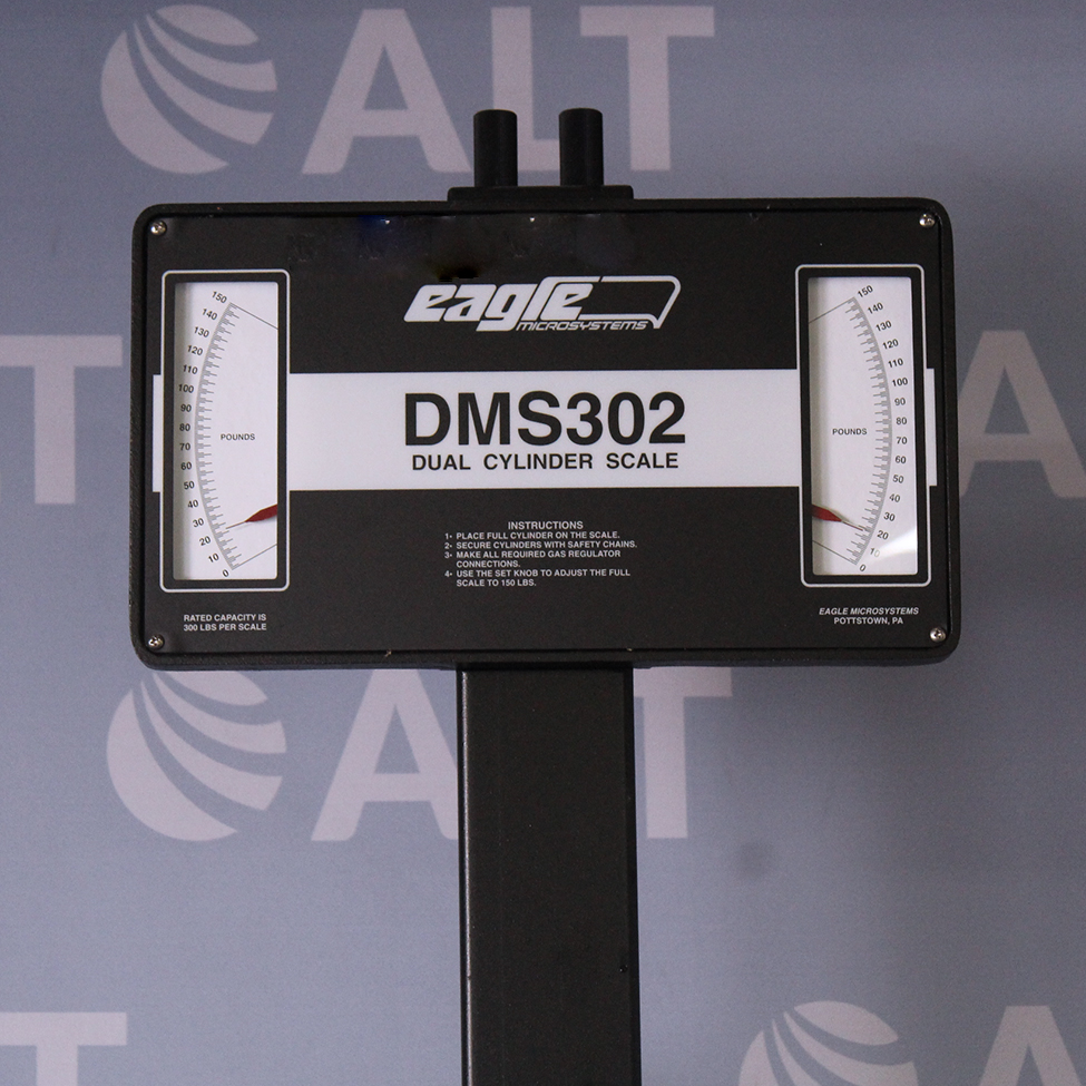 Scale Calibration Weights >> Refurbished Eagle Microsystems DMS302 Dual Cylinder Scale