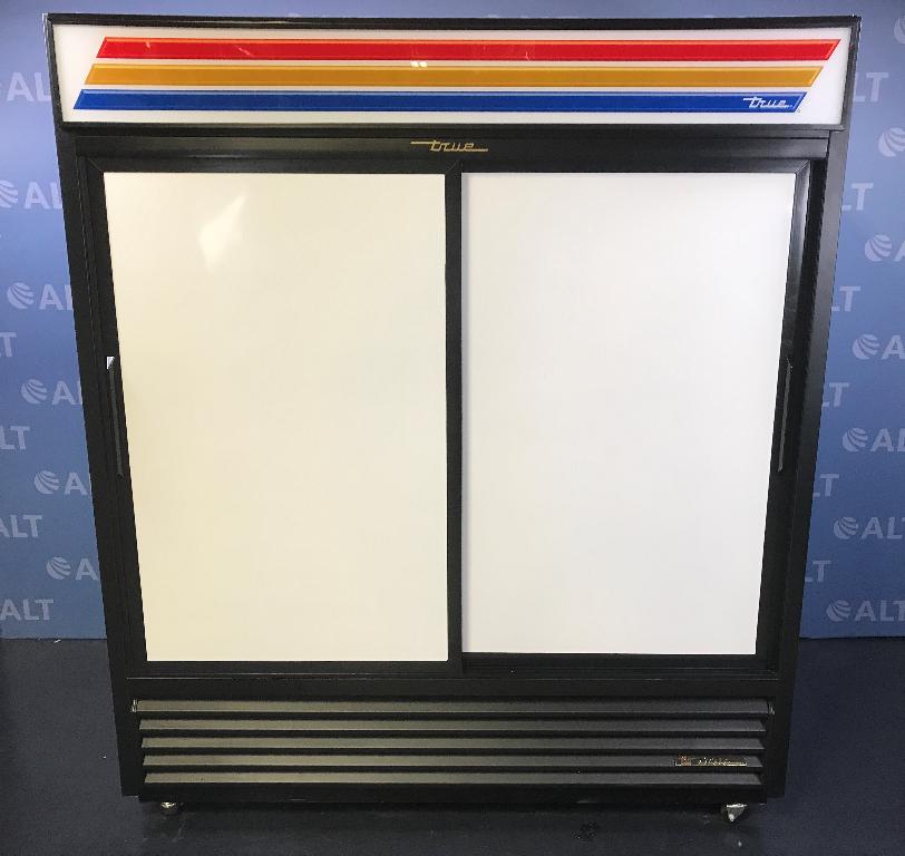 Refurbished True Model Gdm 61 Dual Sliding Door Refrigerator