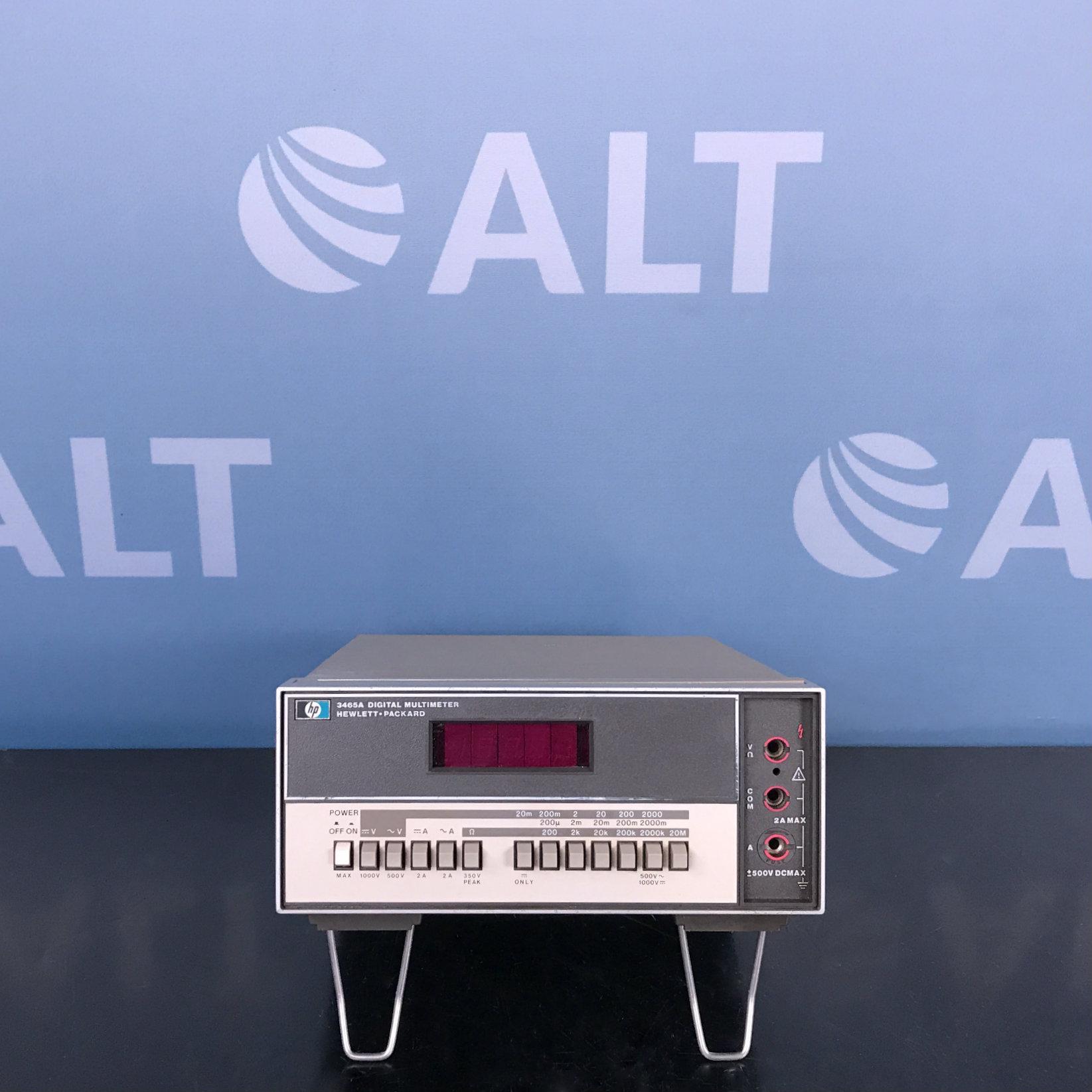 Hewlett Packard 3465A Digital Multimeter Image