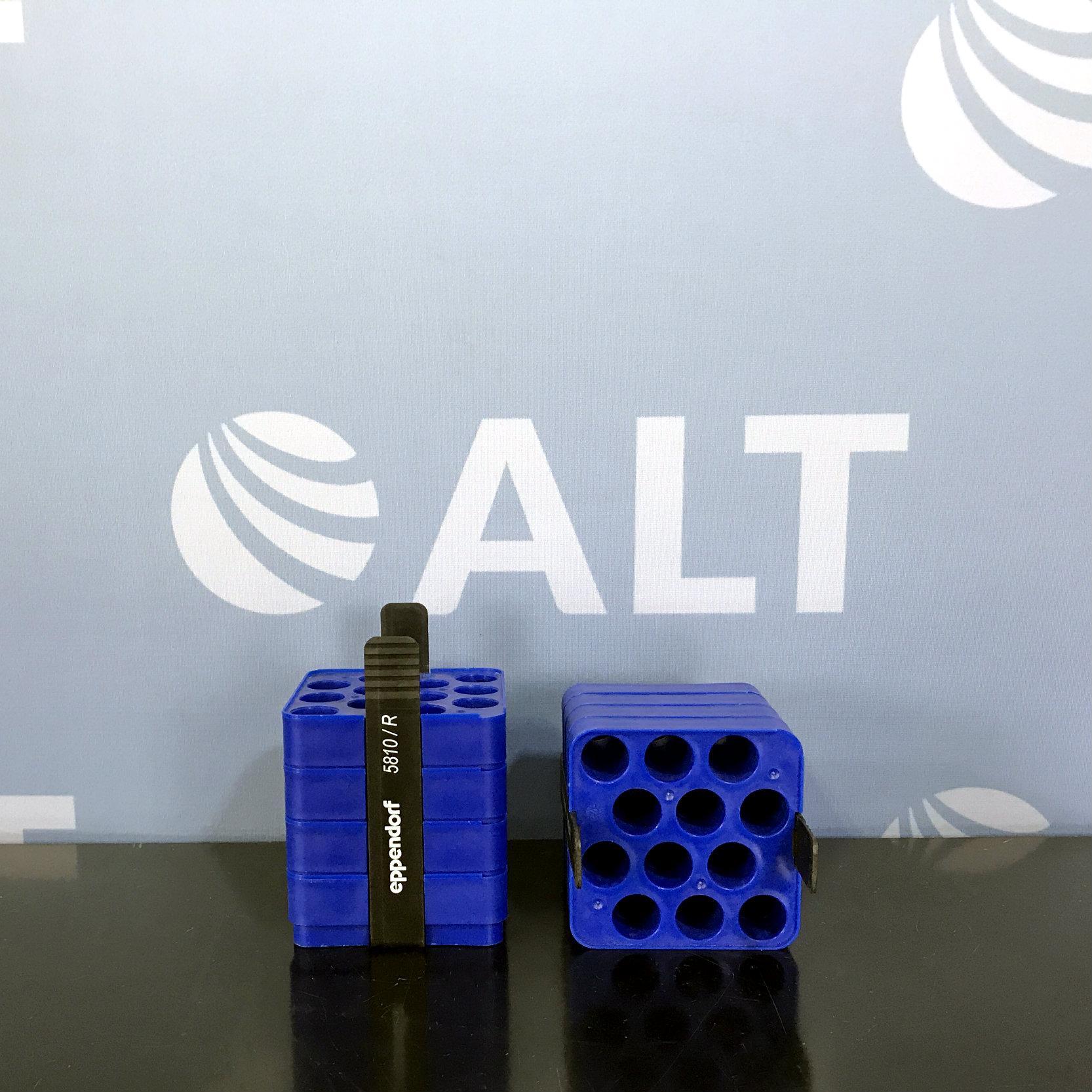 Eppendorf 5810/R (12) Tube Slot Adapter for 500 mL Rectangular Bucket. 17.5mm: Conical Bottom (Set of 2) Image