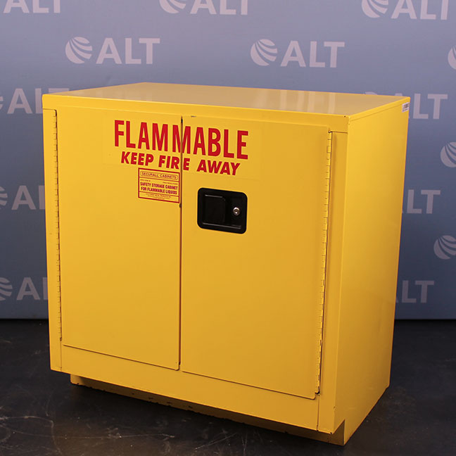 refurbished securall 30 gal flammable storage cabinet