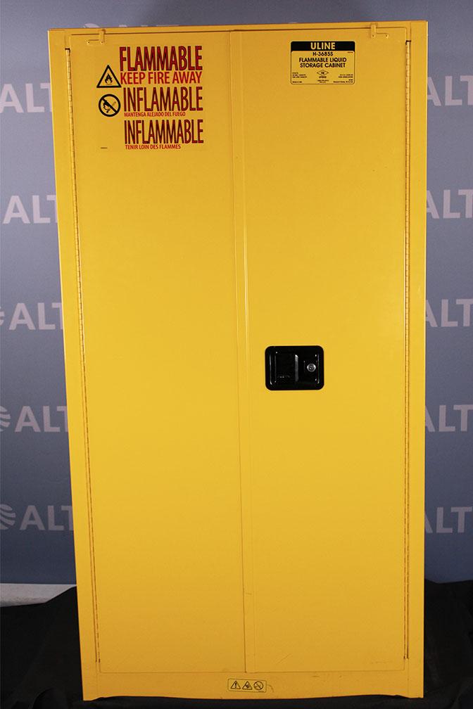 ... Uline 55 Gallon Flammable Liquid Cabinet 876270 Image ...