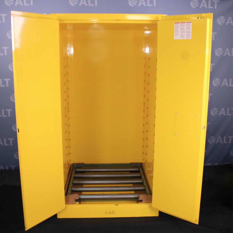 Refurbished Uline 55 Gallon Flammable Drum Storage Cabinet