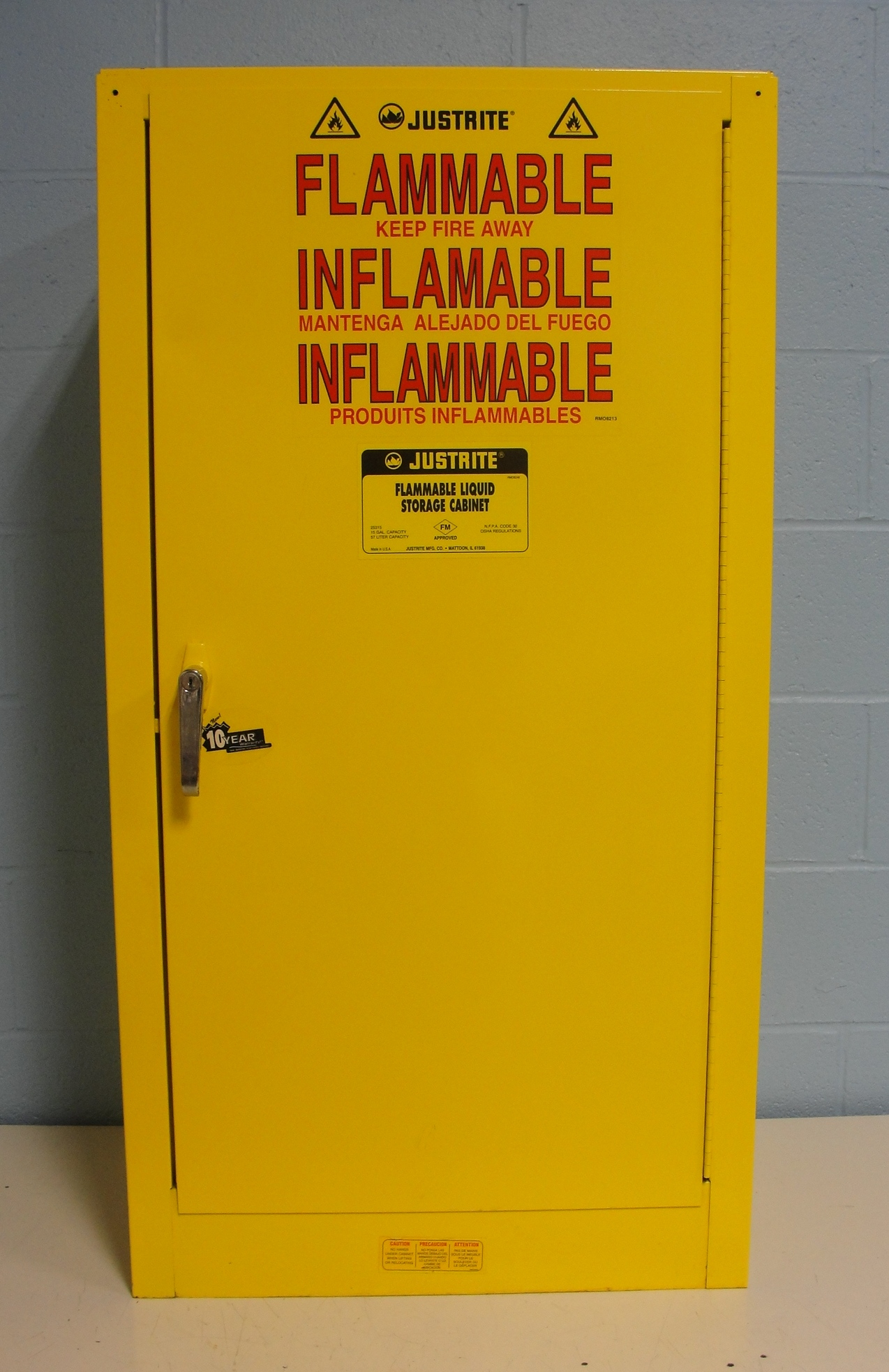 Justrite 25710 Flammable Liquid Storage Cabinet Image & Refurbished Justrite 25710 Flammable Liquid Storage Cabinet