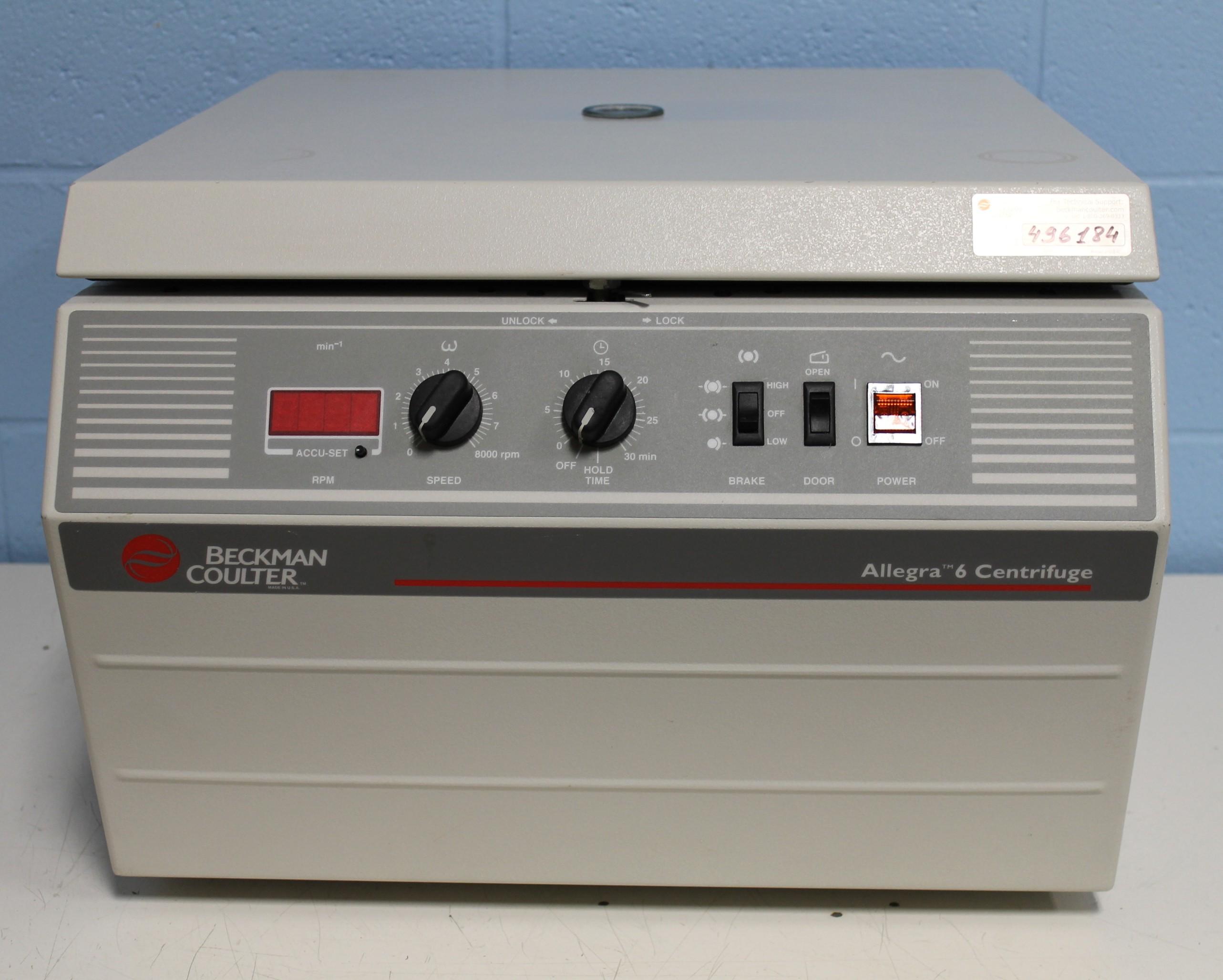 Beckman Coulter Allegra 6 Centrifuge Image