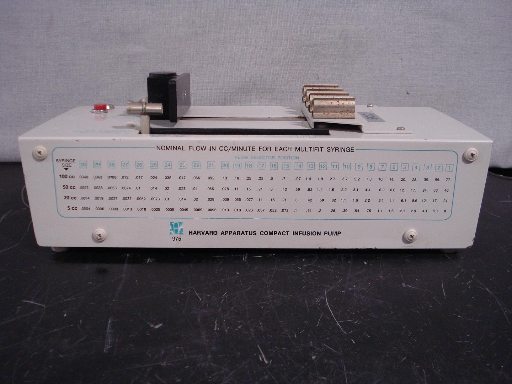 Harvard Apparatus Apparatus Compact Infusion Pump Model 975 Image