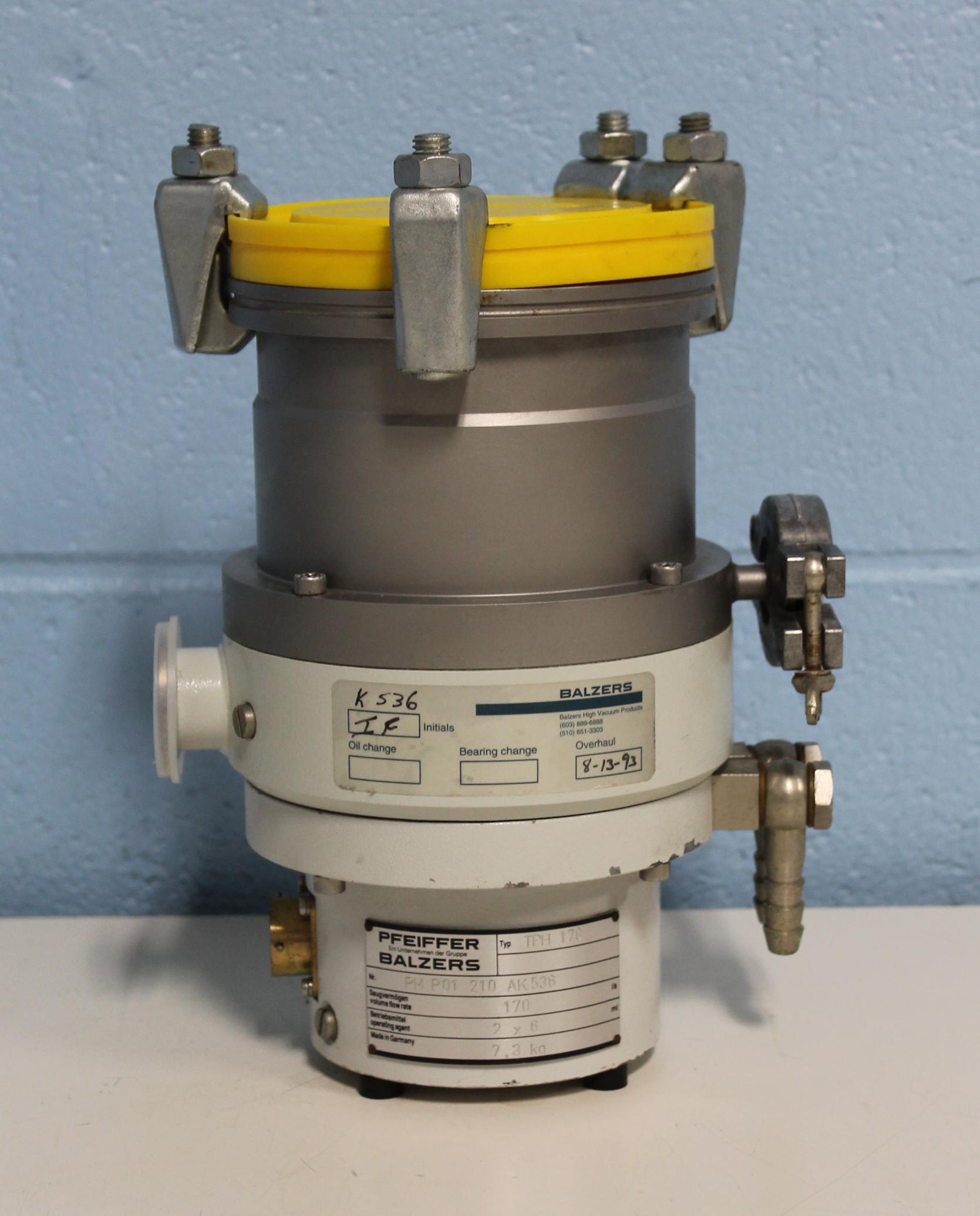 Refurbished Pfeiffer Vacuum Balzers Tph 170 Turbo