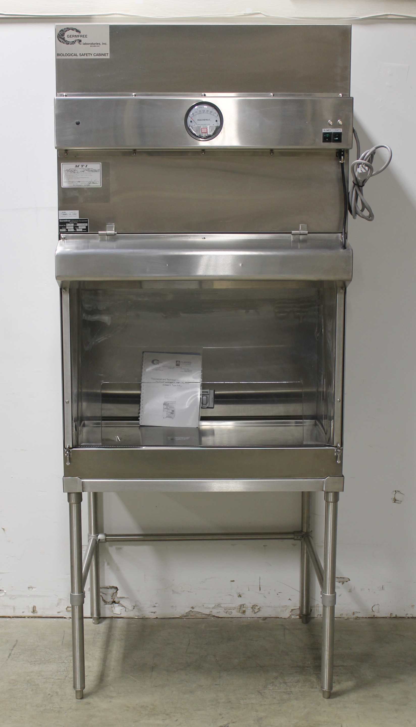Refurbished Germfree Biological Safety Cabinet Model Bbf