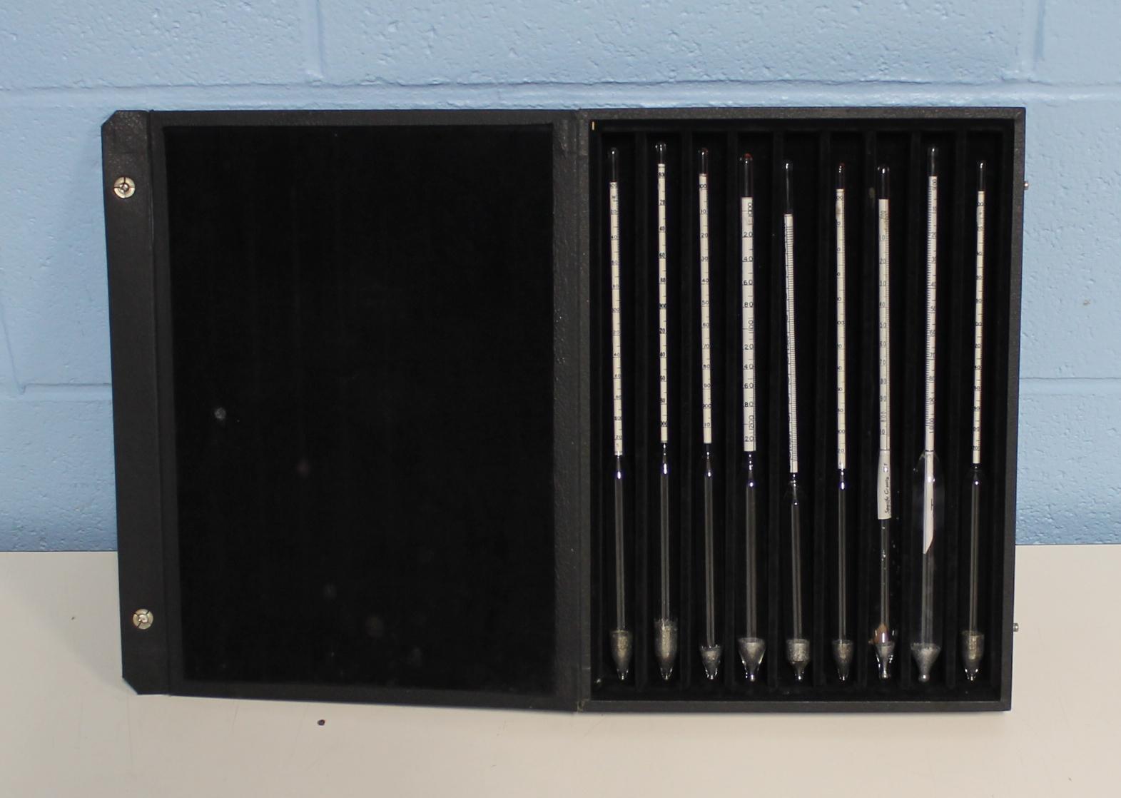 Fisherbrand Ertco Specific Gravity Hydrometer Set (9 Pcs) Image