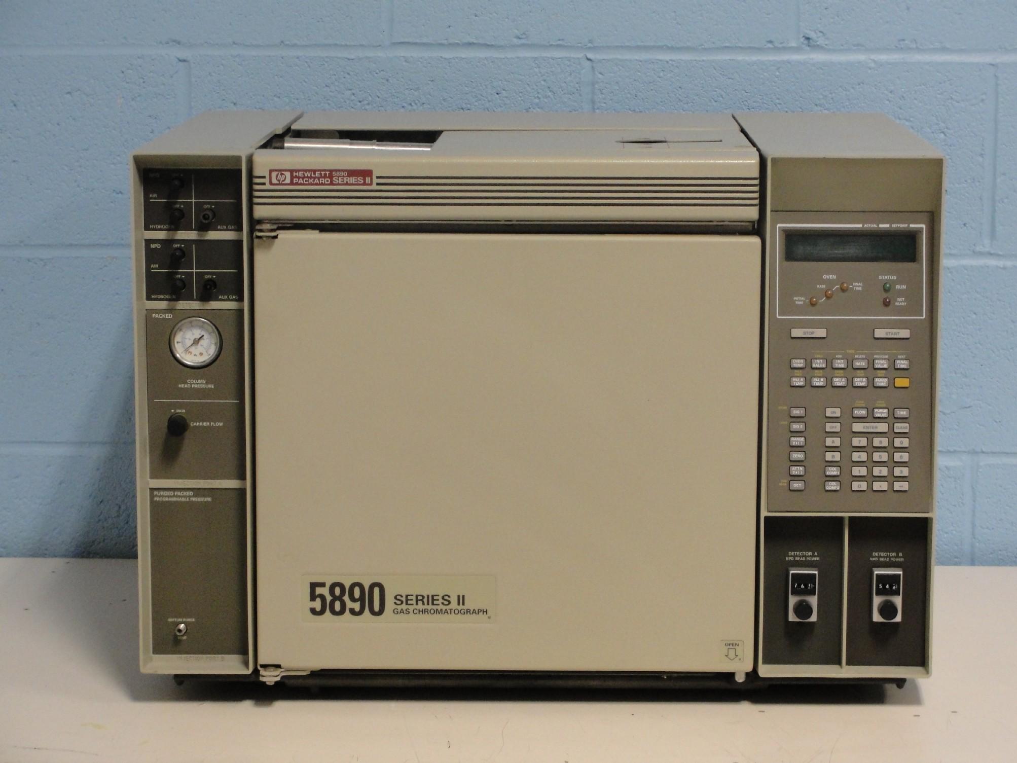 Hewlett Packard 5890 Series II Gas Chromatograph (GC) System Split/Splitless Programmable Pressure Injector Image