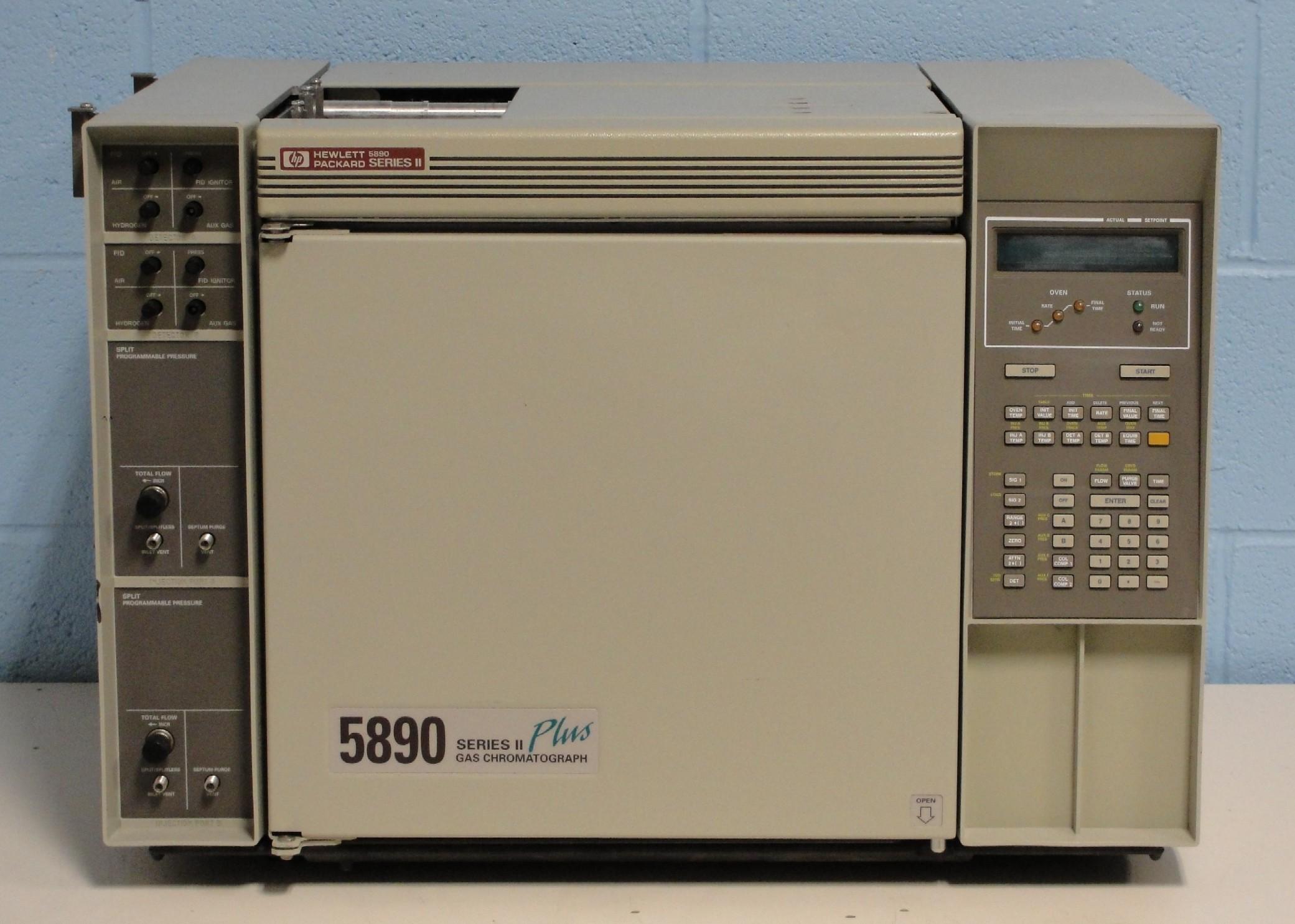refurbished hewlett packard hp 5890 series ii plus gas chromatograph rh americanlaboratorytrading com HP 5890 GC HP Gas