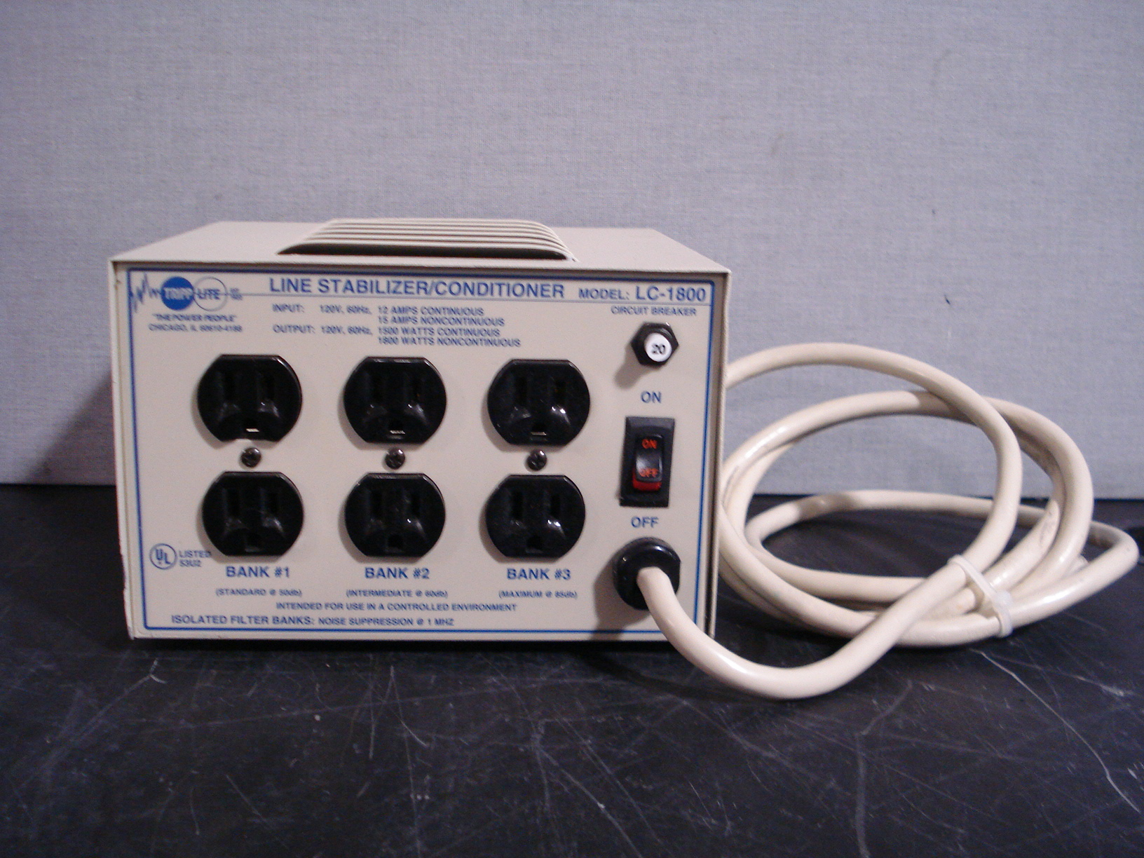 Refurbished Tripp Lite Line Stabilizer Conditioner Model