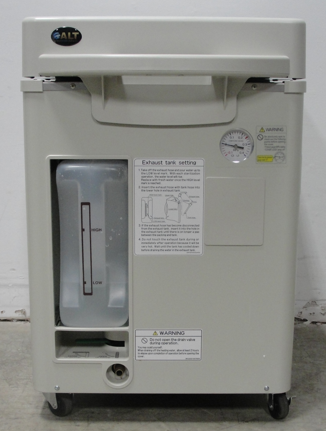 Refurbished Sanyo MLS-3750 Mobile Top-Loading Autoclave