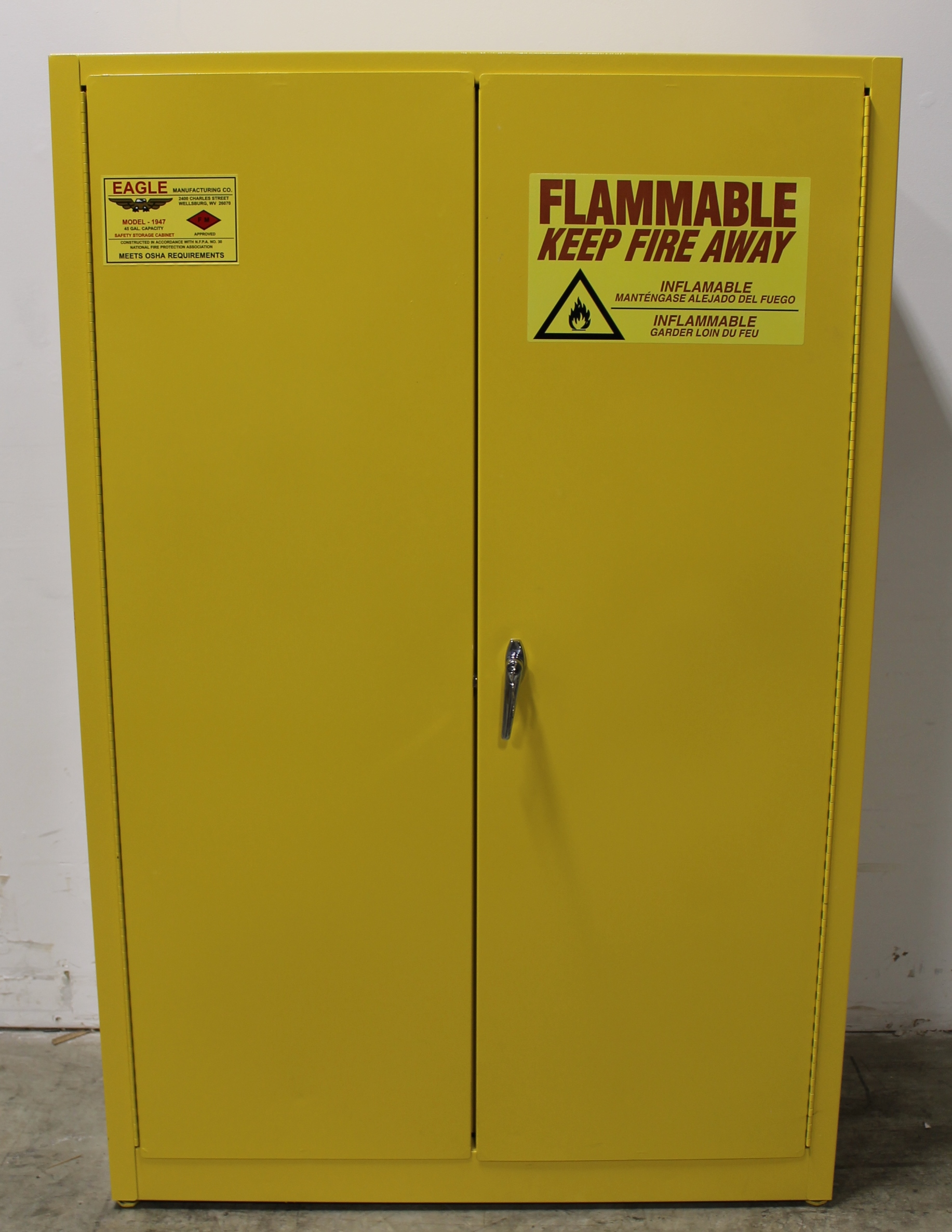 Eagle Manufacturing Model 1947 45 Gallon Flammable Safety Storage ...