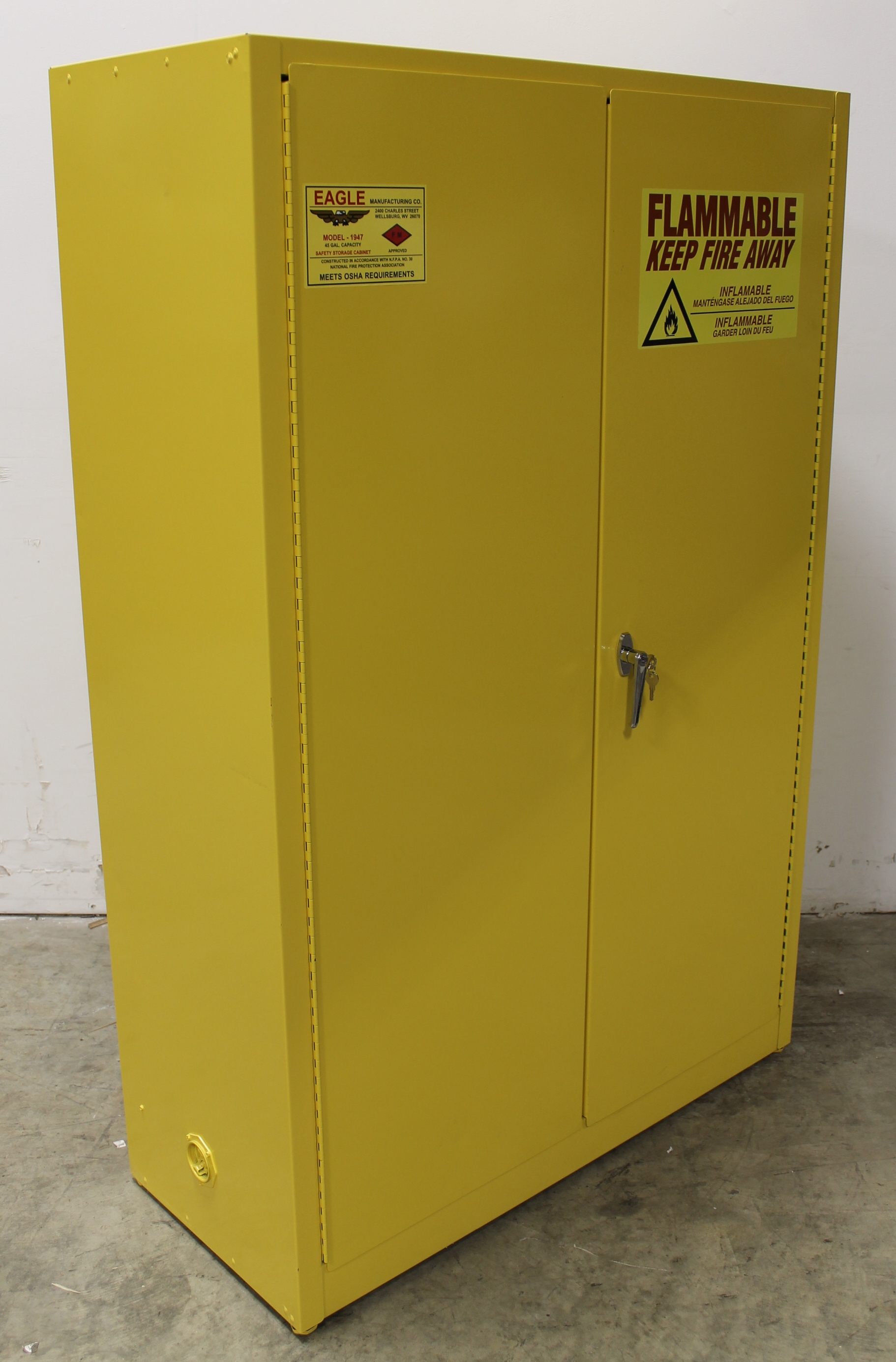eagle model 45 gallon flammable safety storage cabinet image