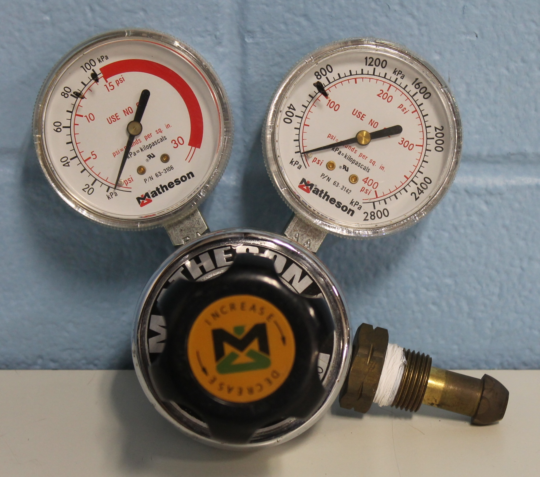 Matheson Gas Products Model 1PA-510 Single-Stage General Purpose Regulator Image