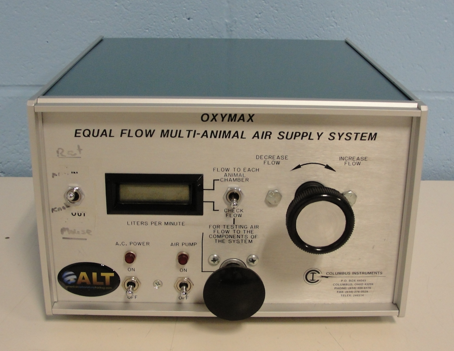 Columbus Instruments OXYMAX Equal Flow Multi-Animal Air Supply System Image