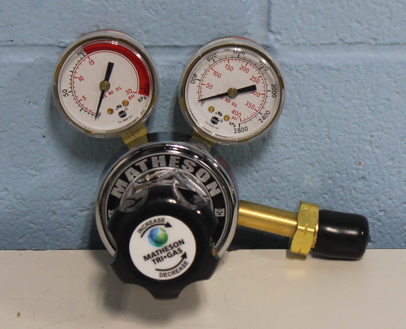 Matheson Gas Products 18A-510PE Single-Stage General Purpose Brass Regulator Image