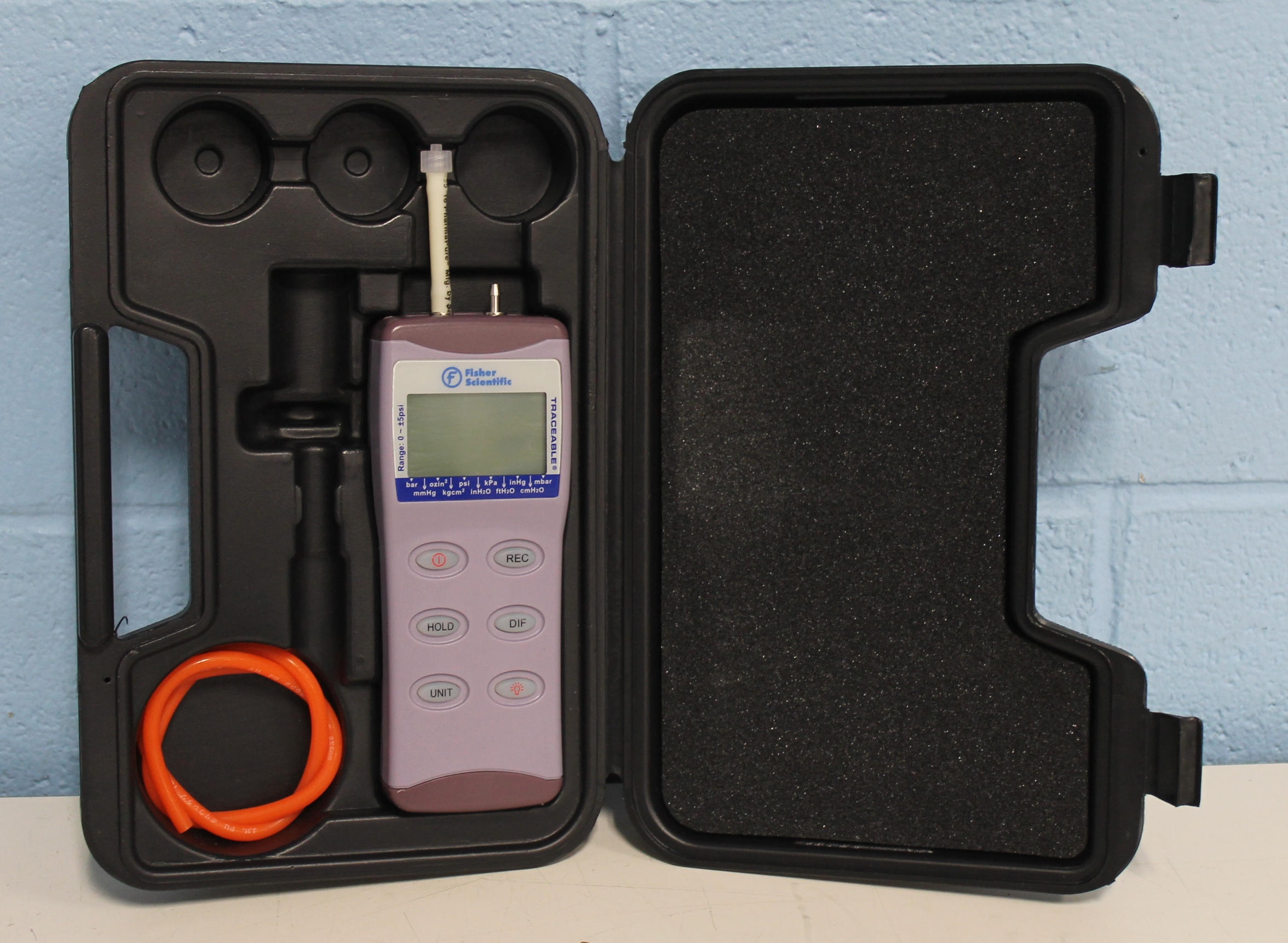 Refurbished Fisher Scientific Traceable Manometer 0-5 PSI