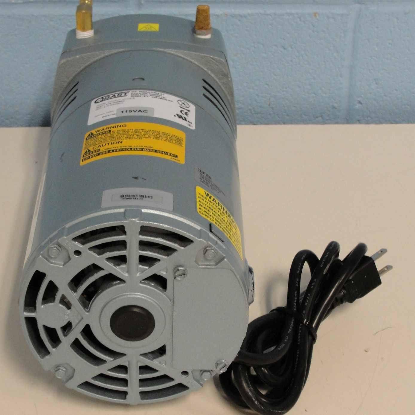 Refurbished Gast Oilless Rotary Vane Vacuum Pump