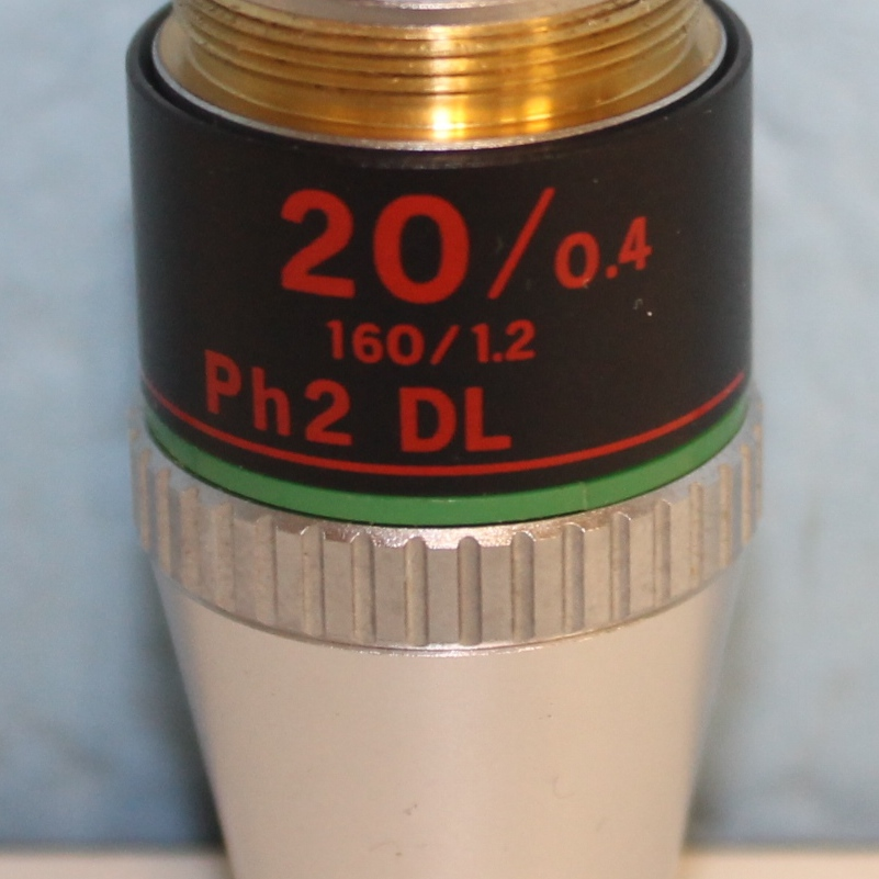 Nikon 20/0.4 PH2 DL 160 1.2 Microscope Objective Image