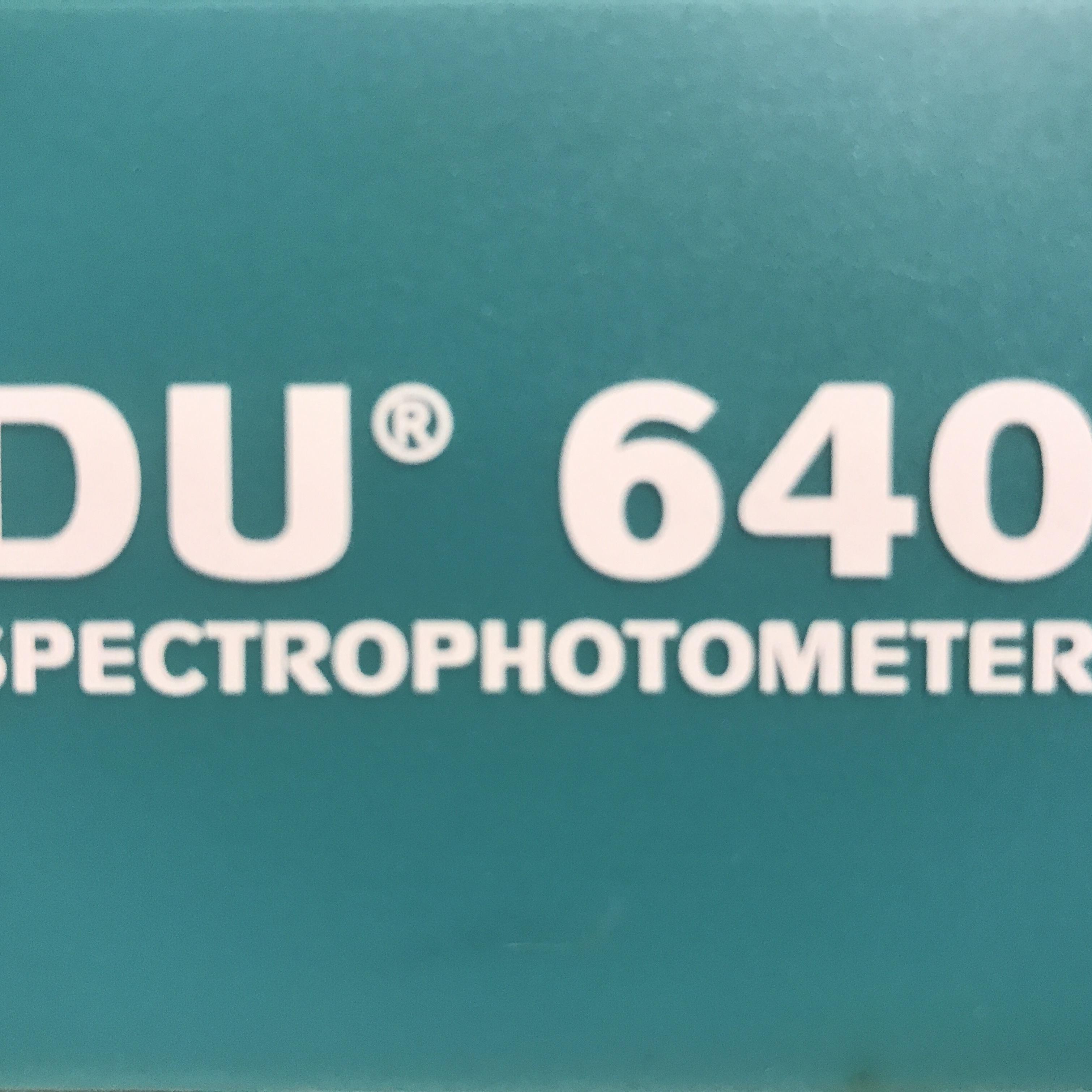 Beckman Coulter DU 640 Spectrophotometer Image