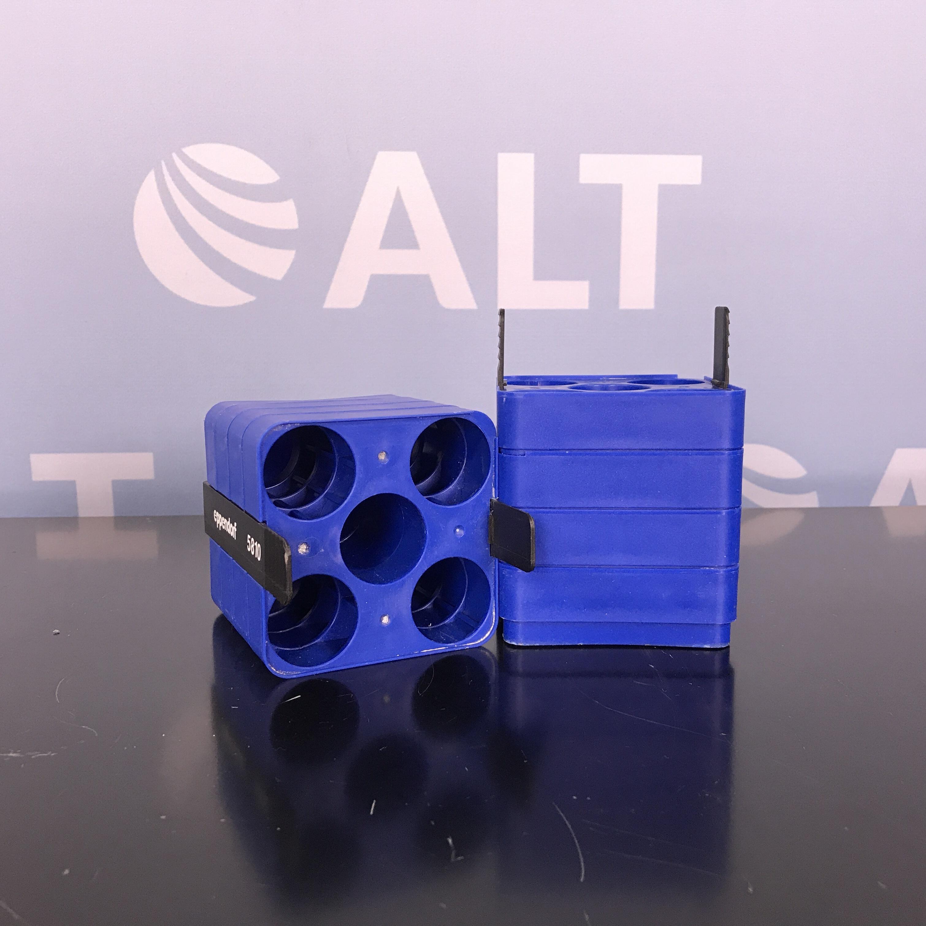 Eppendorf 5810 (5) Tube Slot Adapter for 500 mL Rectangular Bucket. 50mL: Conical Bottom (Set of 2) Image