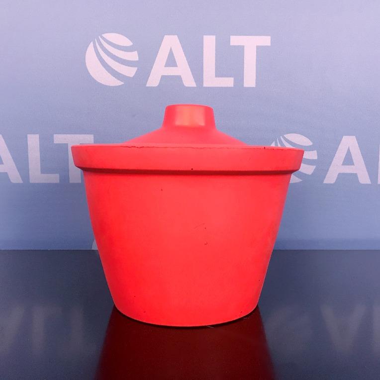 Bel-Art Magic Touch Ice Bucket, 4.0L, Orange w/ Lid Image