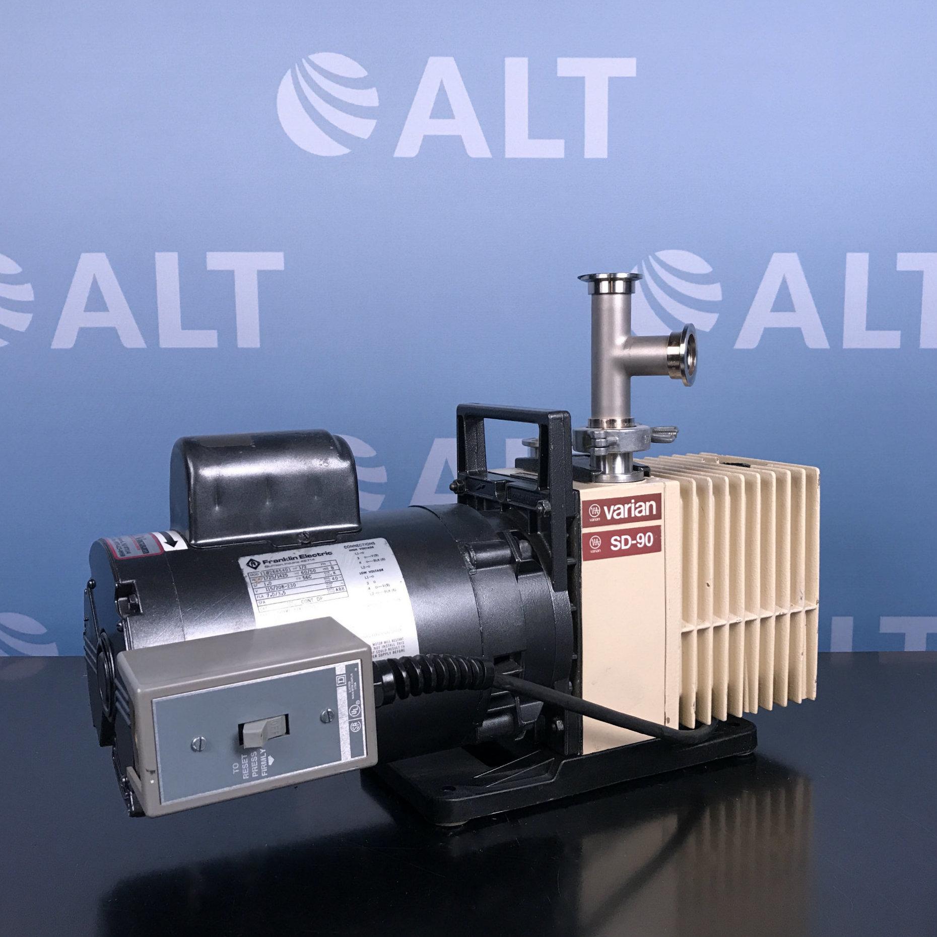 Varian SD-90 Dual Stage Rotary Vane Vacuum Pump Image
