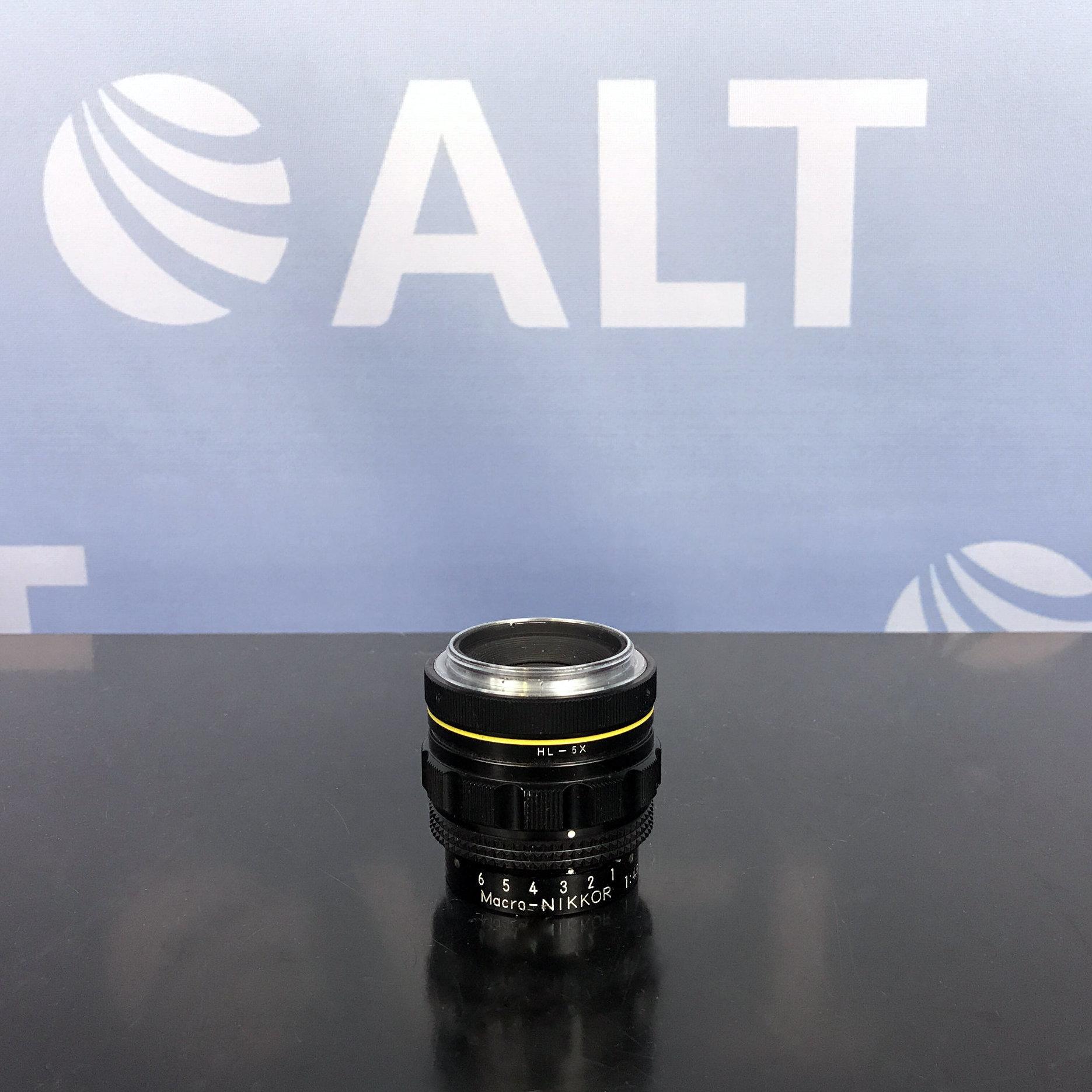 Nikon Macro-Nikkor 1:4.5  f=65mm Yellow Lined Strong Barrel Lens Image