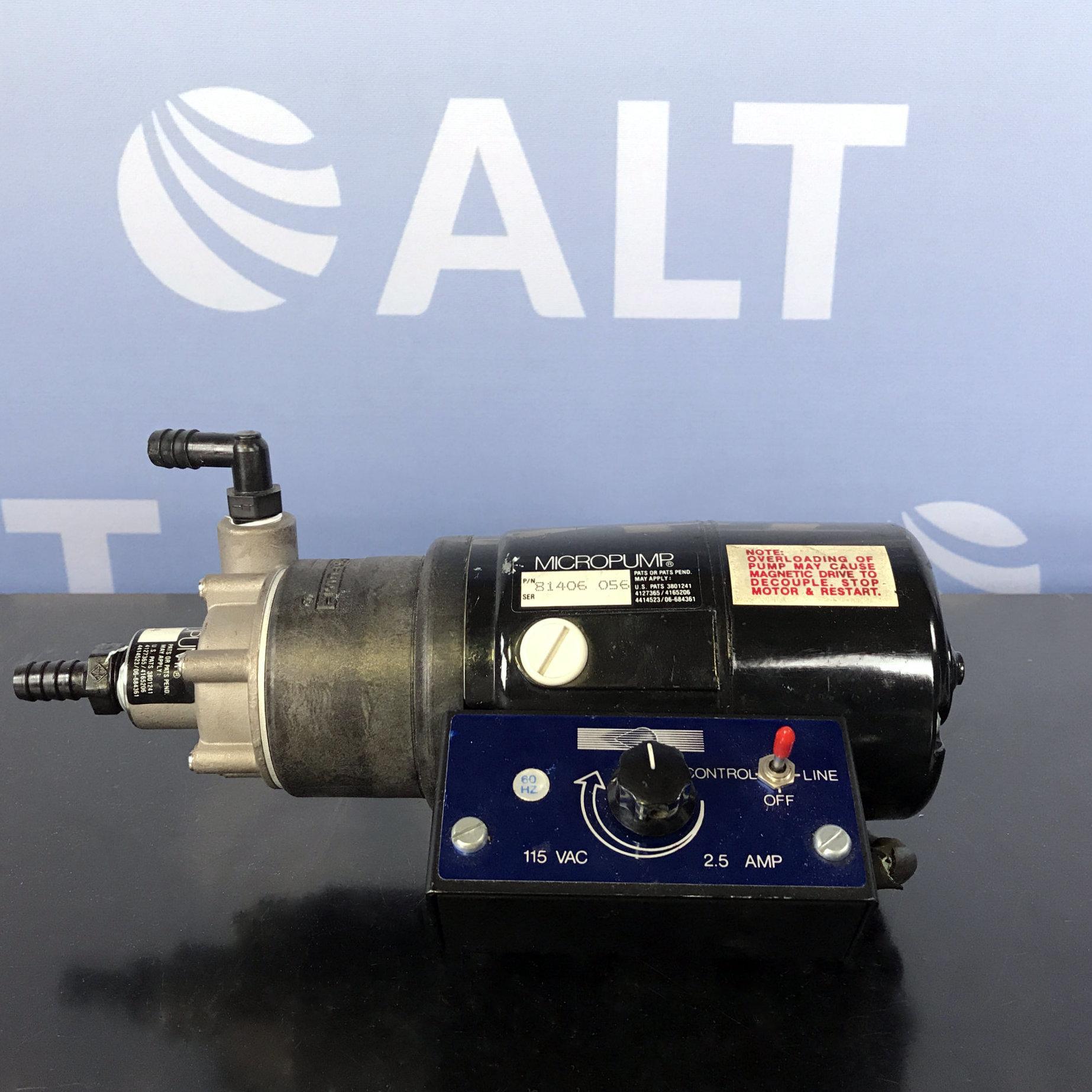 Micropump Vacuum Pump Model 81406 With Pump Head 81115 Image