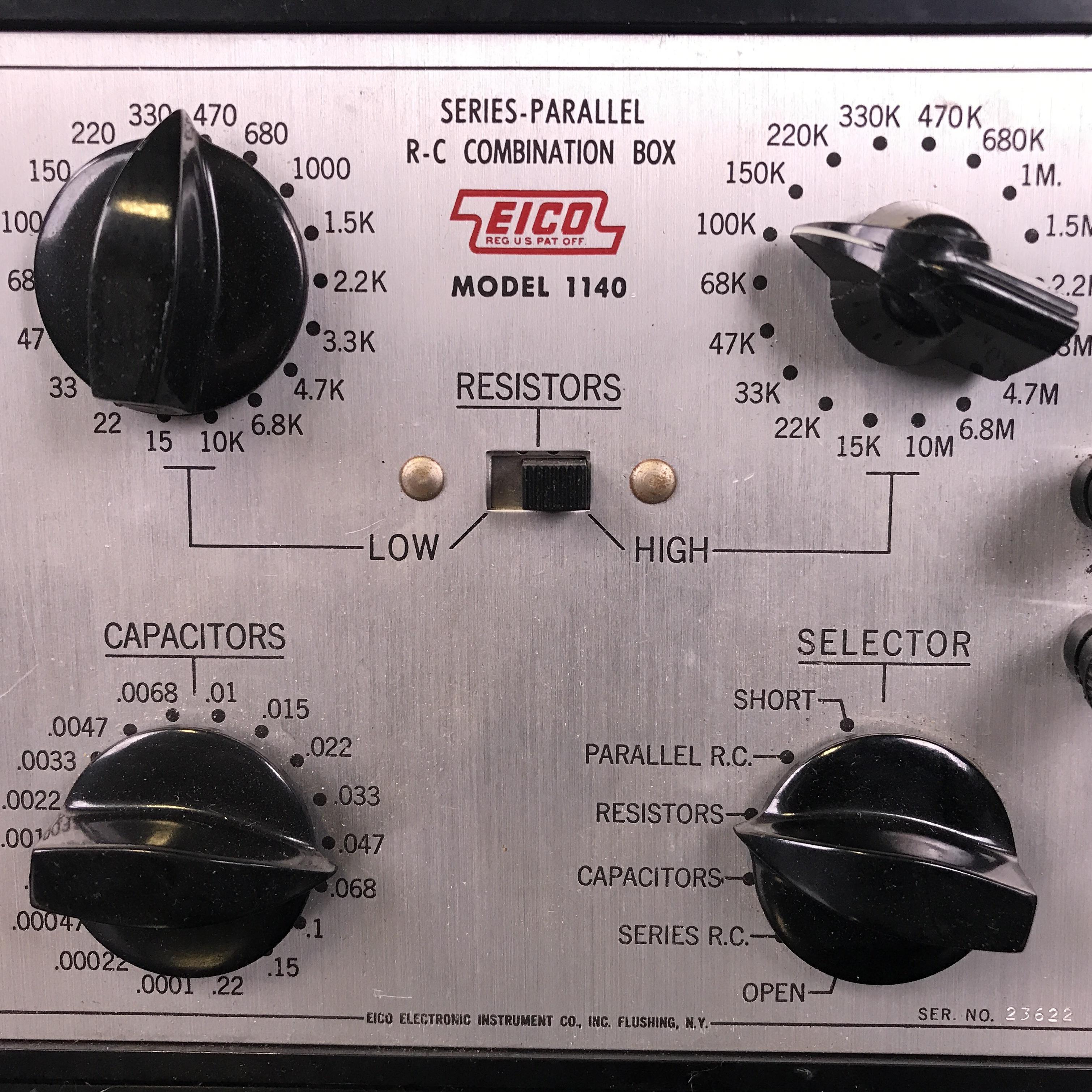 EICO Model 1140 Series-Parallel R-C Combination Box Image