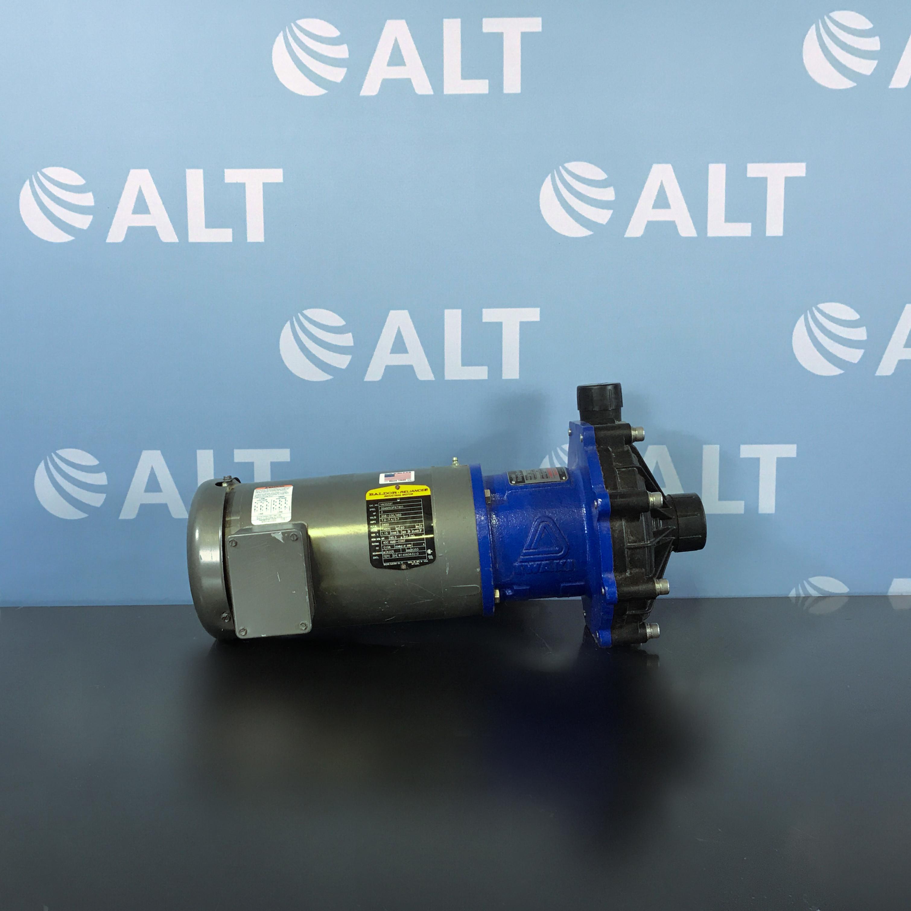 Iwaki America MX-403HCV6 Magnetic Drive Pump with Baldor VM3559T Motor Image