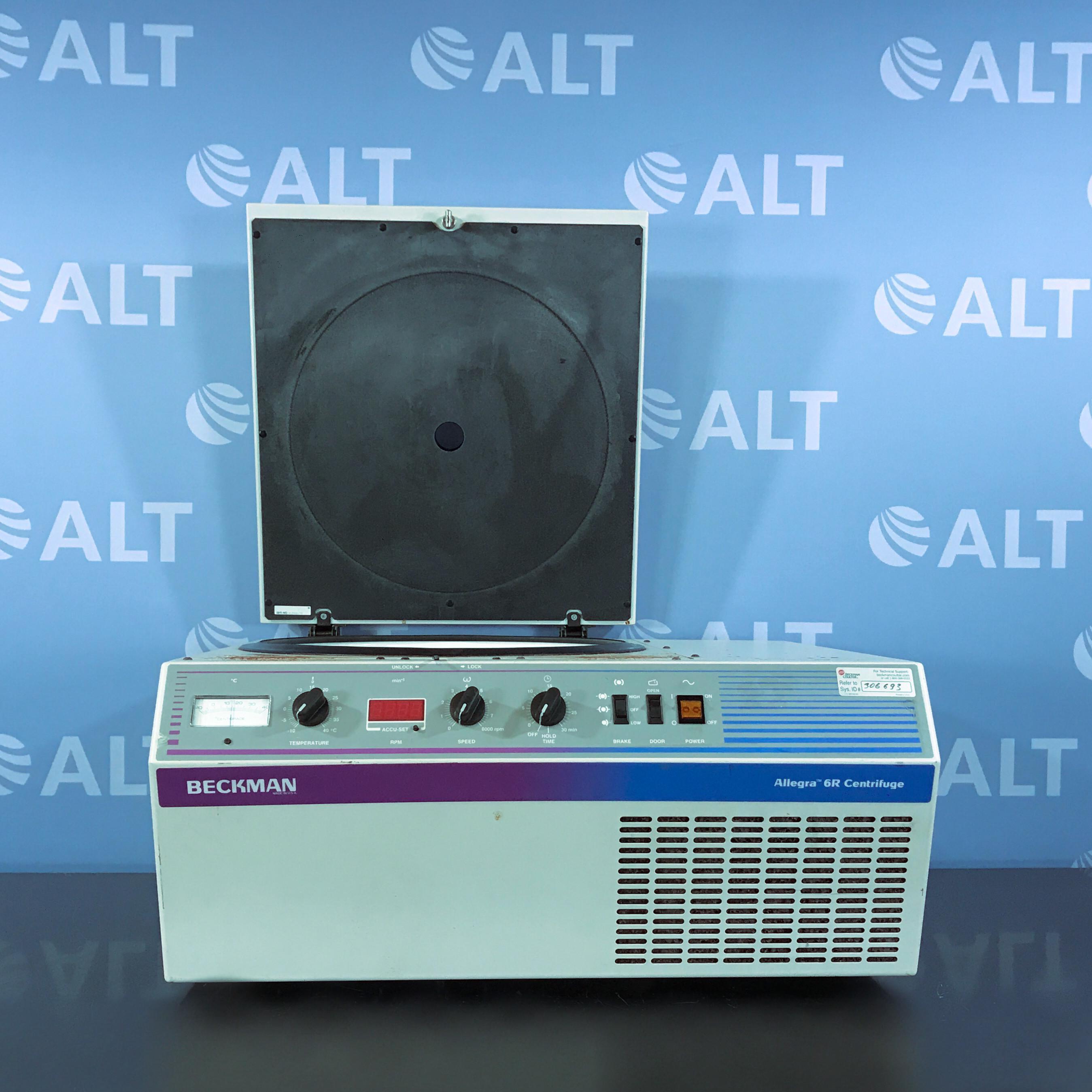 Beckman Coulter Allegra 6R Refrigerated Benchtop Centrifuge 120 V 60 Hz Image