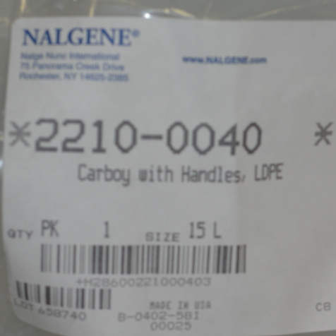 Nalgene 2210-0040 Carboys Image