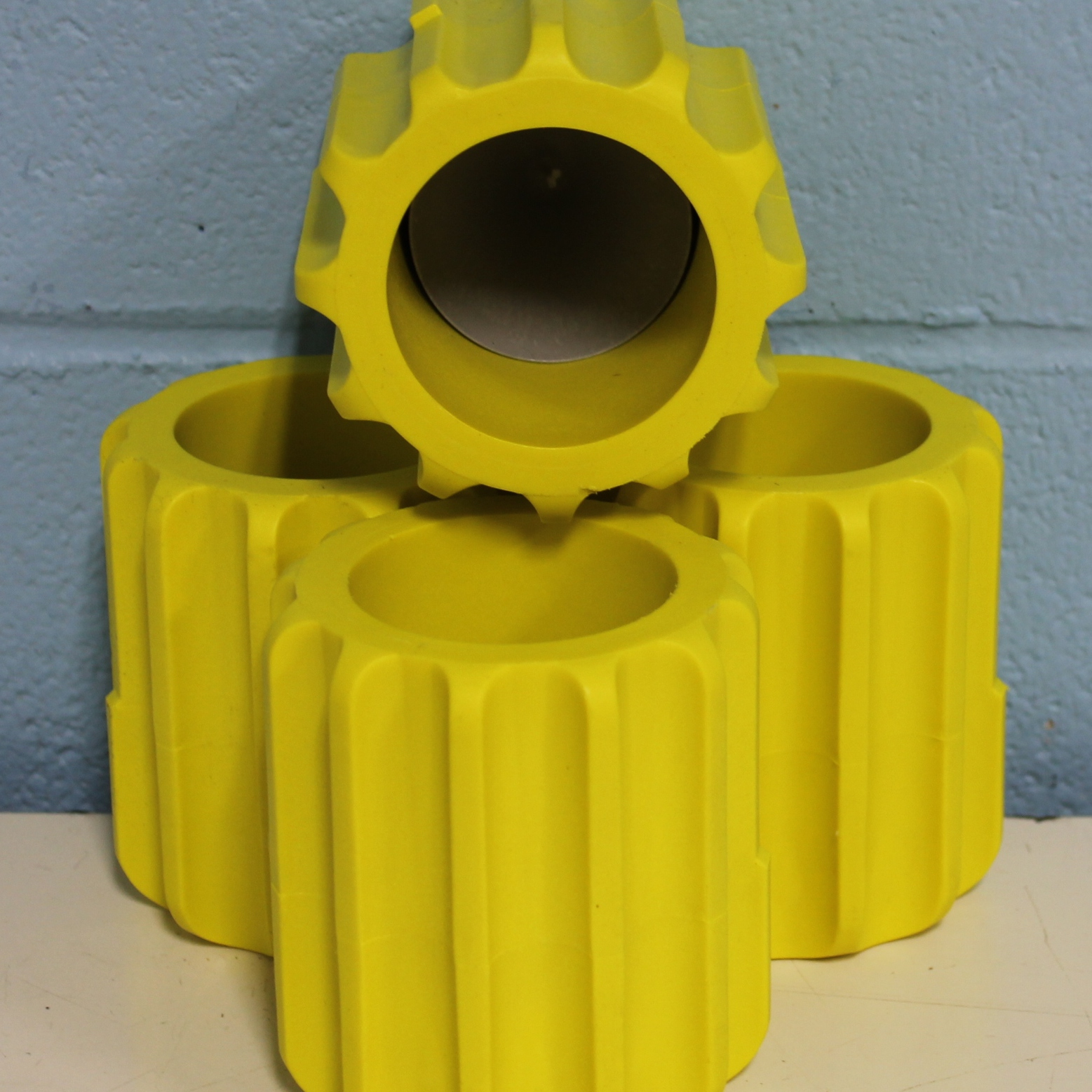 Beckman Coulter 250mL Yellow Rubber Bottle Sleeve P/N 349946 Image