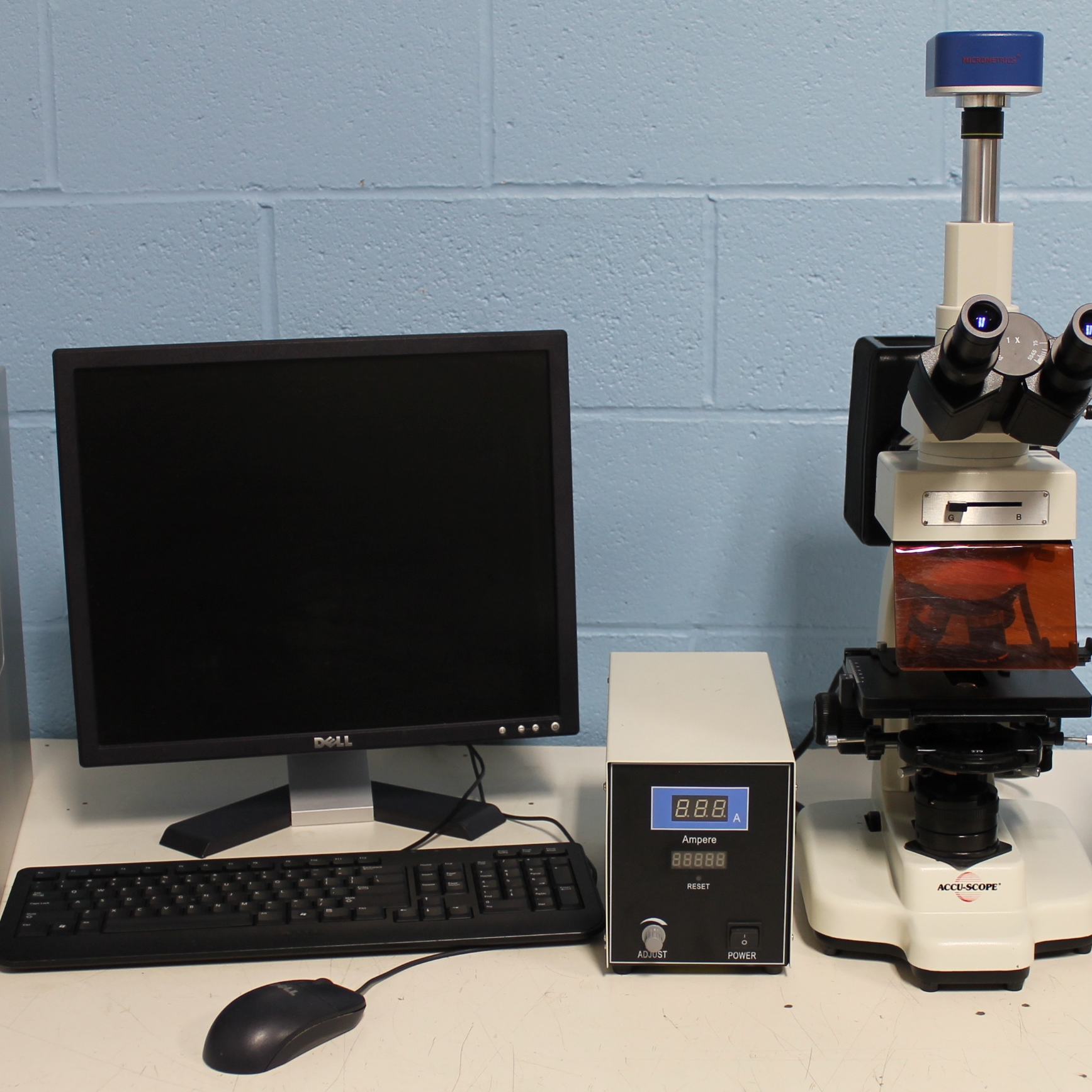 Accu-Scope 3016EPI Microscope with Neutec Group Flash and Grow Colony Counting System Image