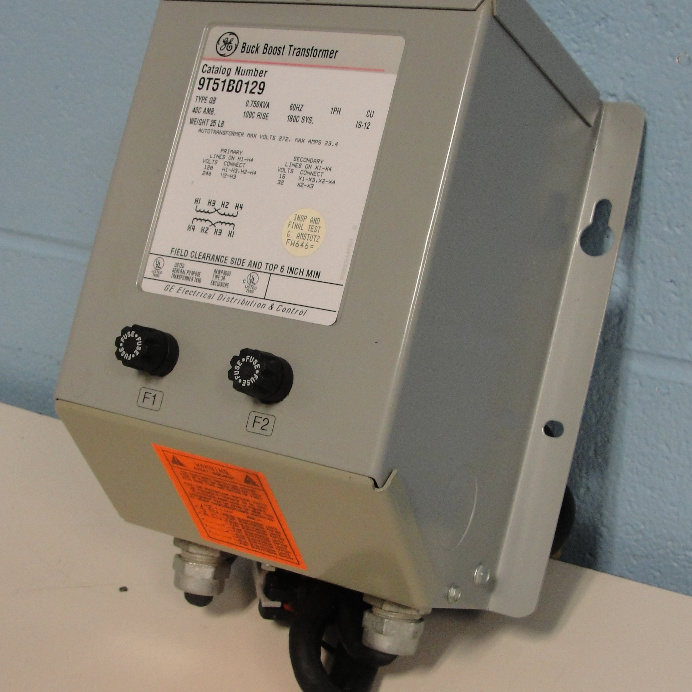 General Electric 9T51B0129 Buck Boost Transformer GT1112 Image