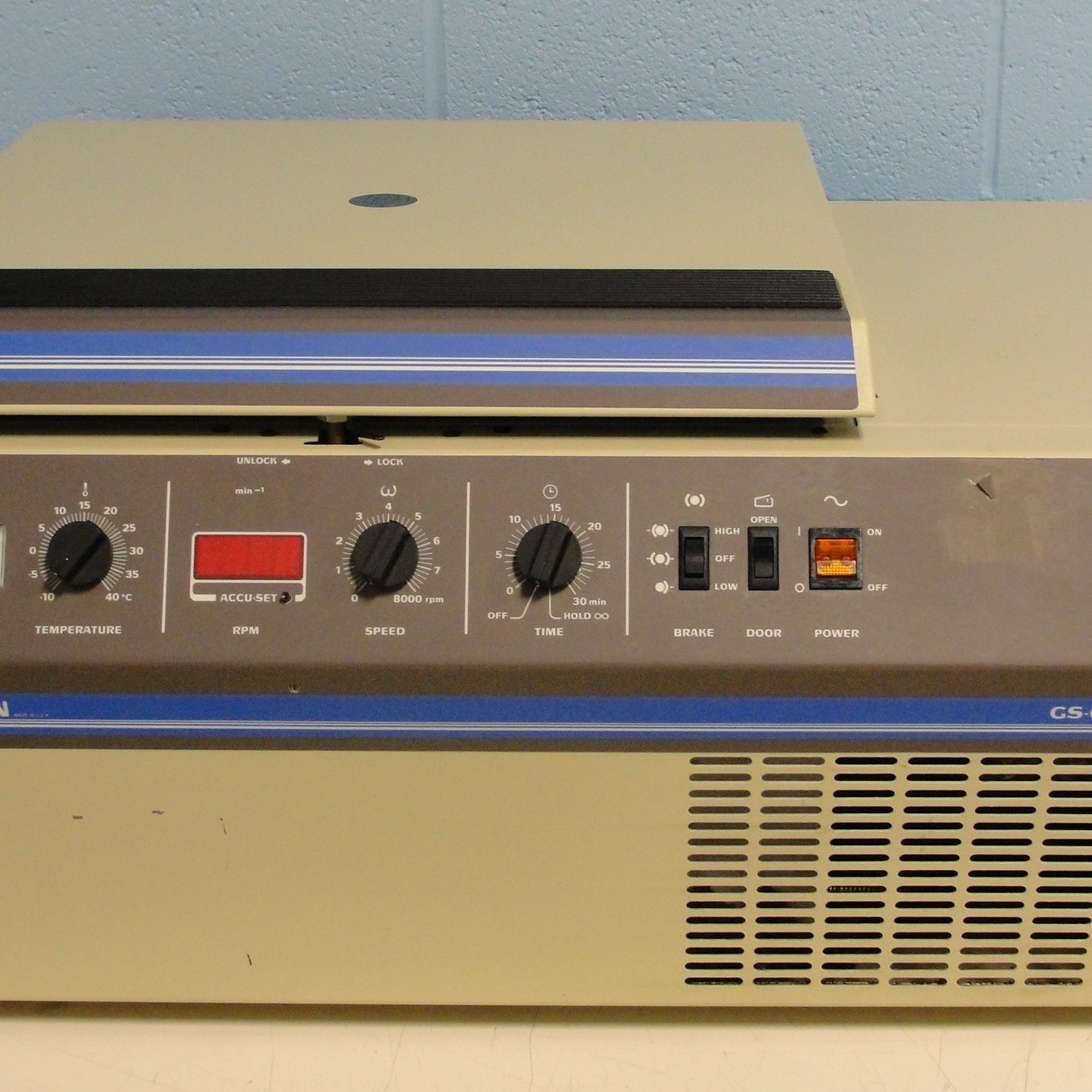 Allegra GS-6R Refrigerated Benchtop Centrifuge Name