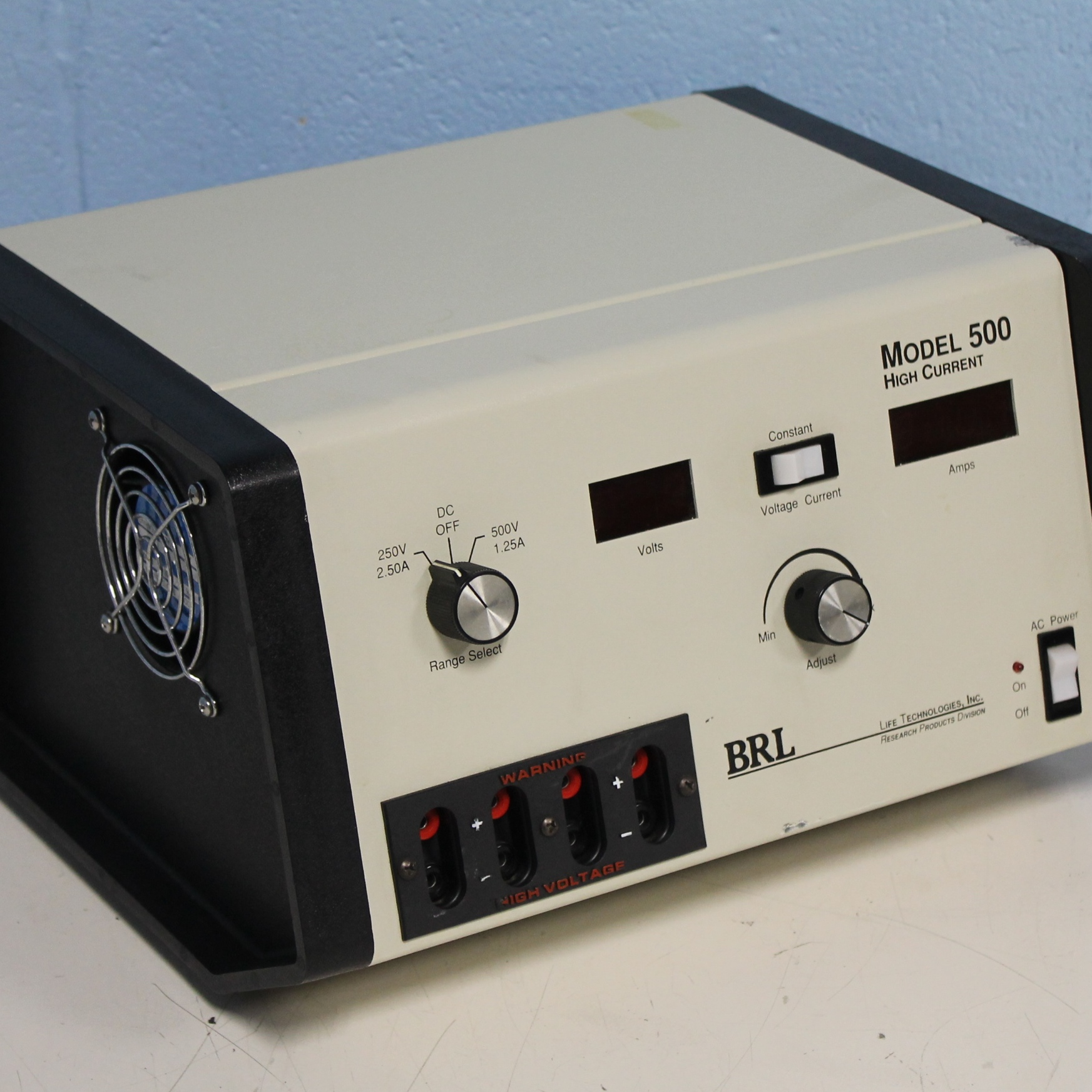 Life Technologies Inc. BRL Model 500 Power Supply Image