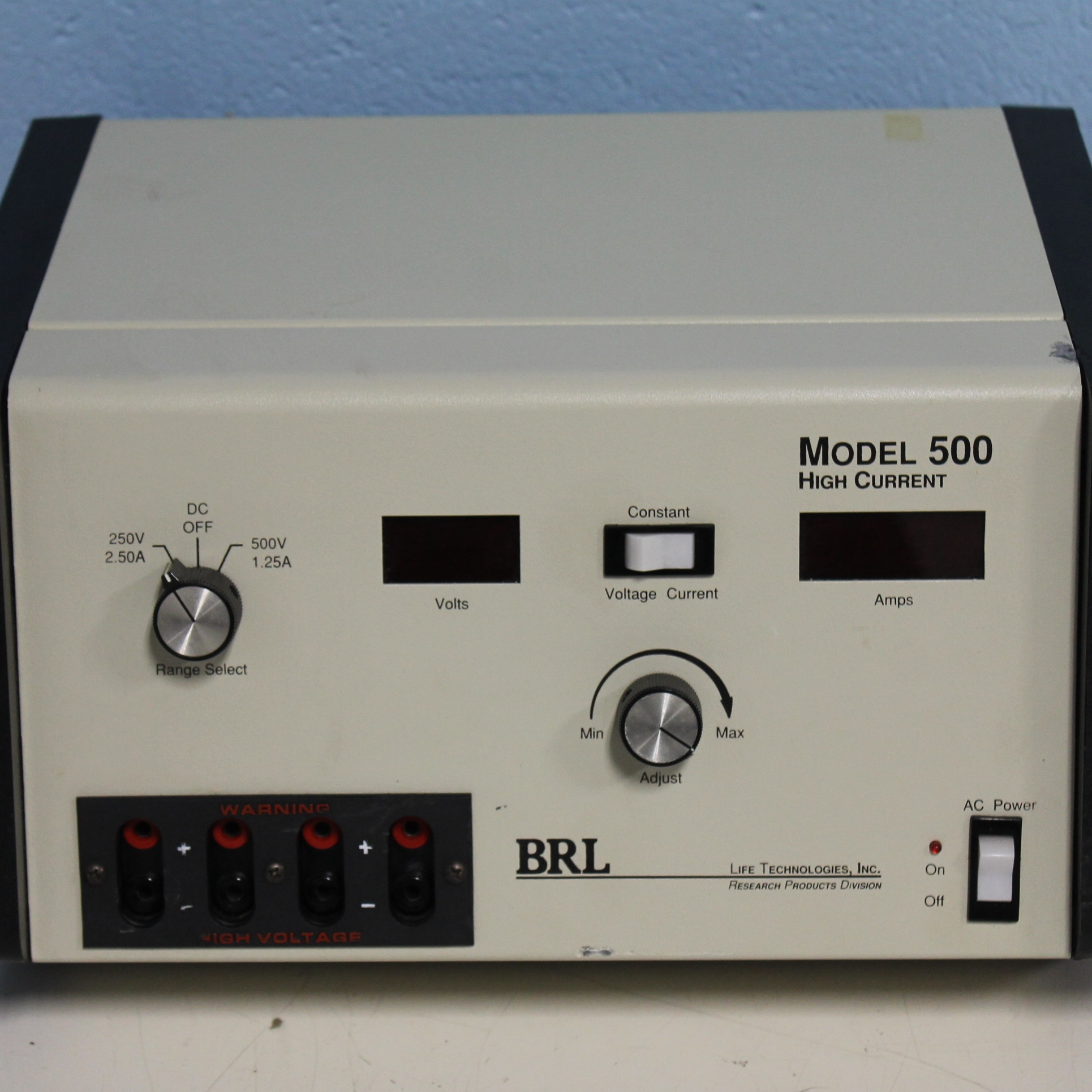 BRL Model 500 Power Supply Name