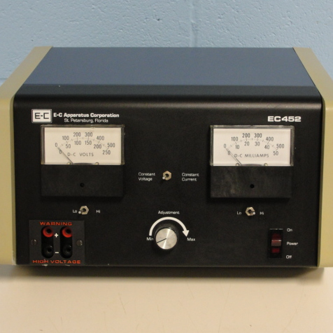 EC 452 Electrophoresis Power Supply Name