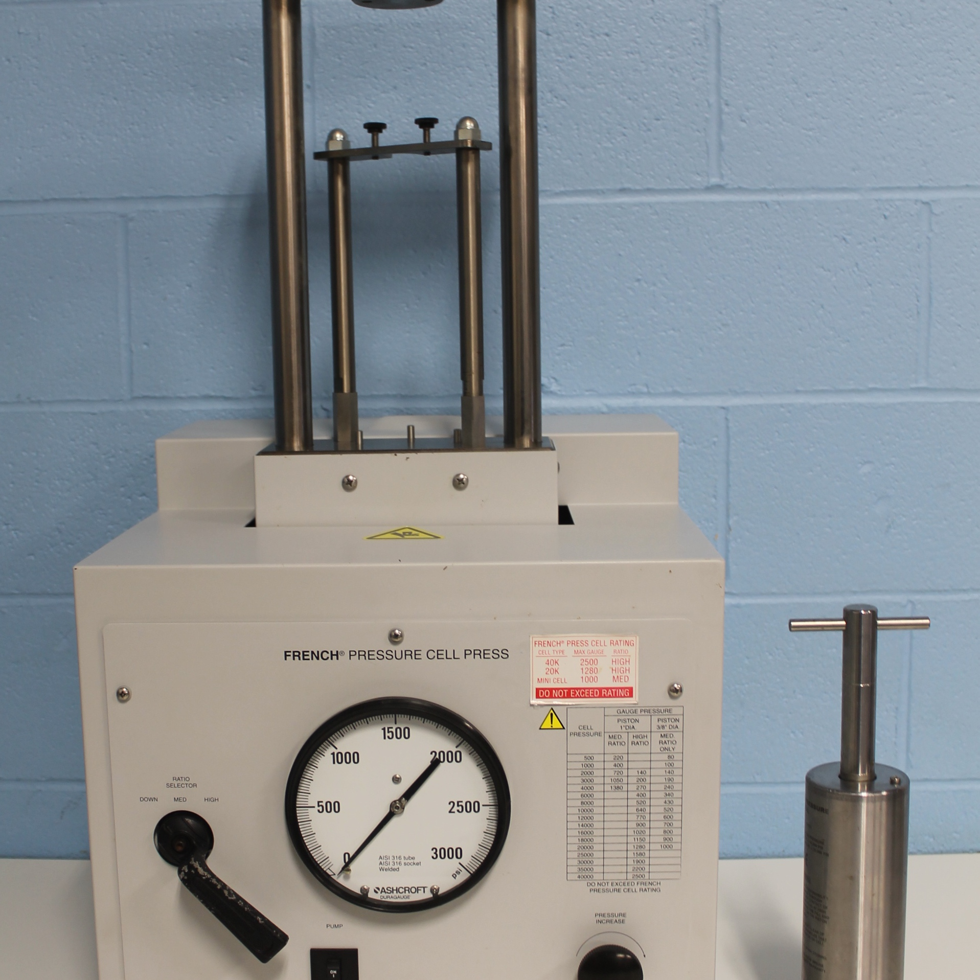 Thermo Spectronic French Pressure Cell Press Model FA-078 Image
