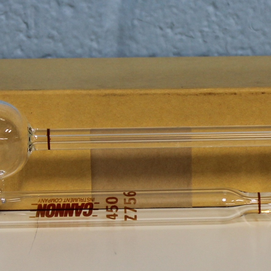 Glass Opaque Calibrated Viscometer Tube; ASTM 450 Name