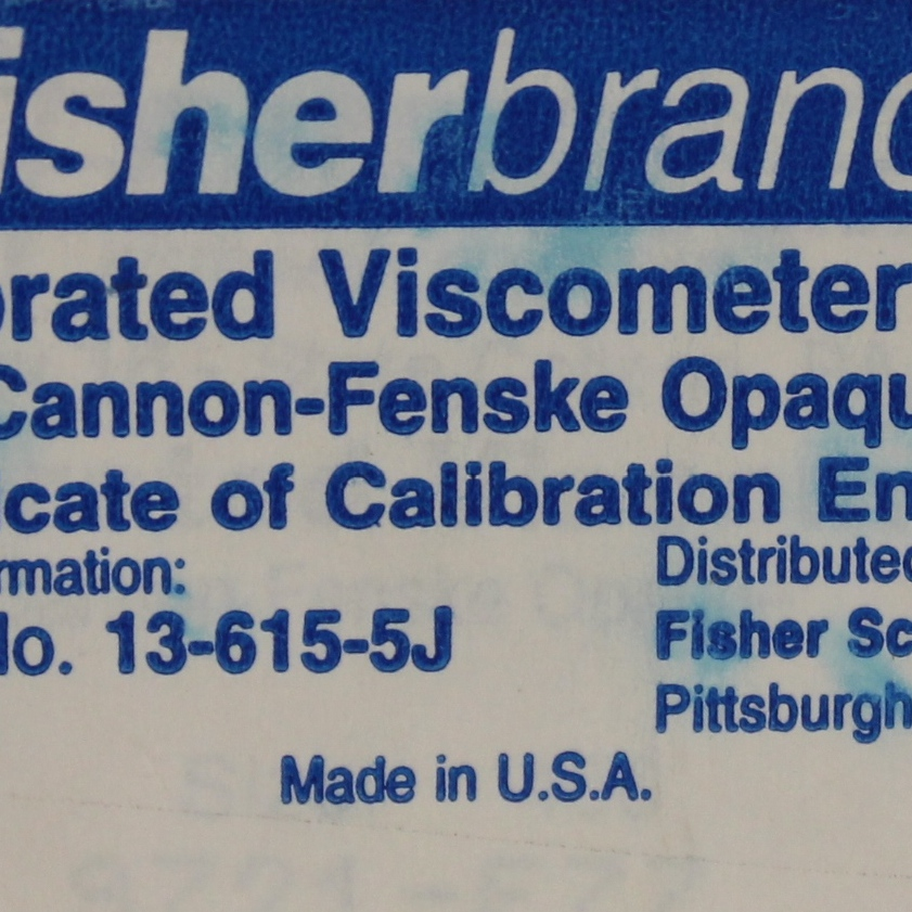 Fisherbrand Glass Opaque Calibrated Viscometer Tube; ASTM 450 Image
